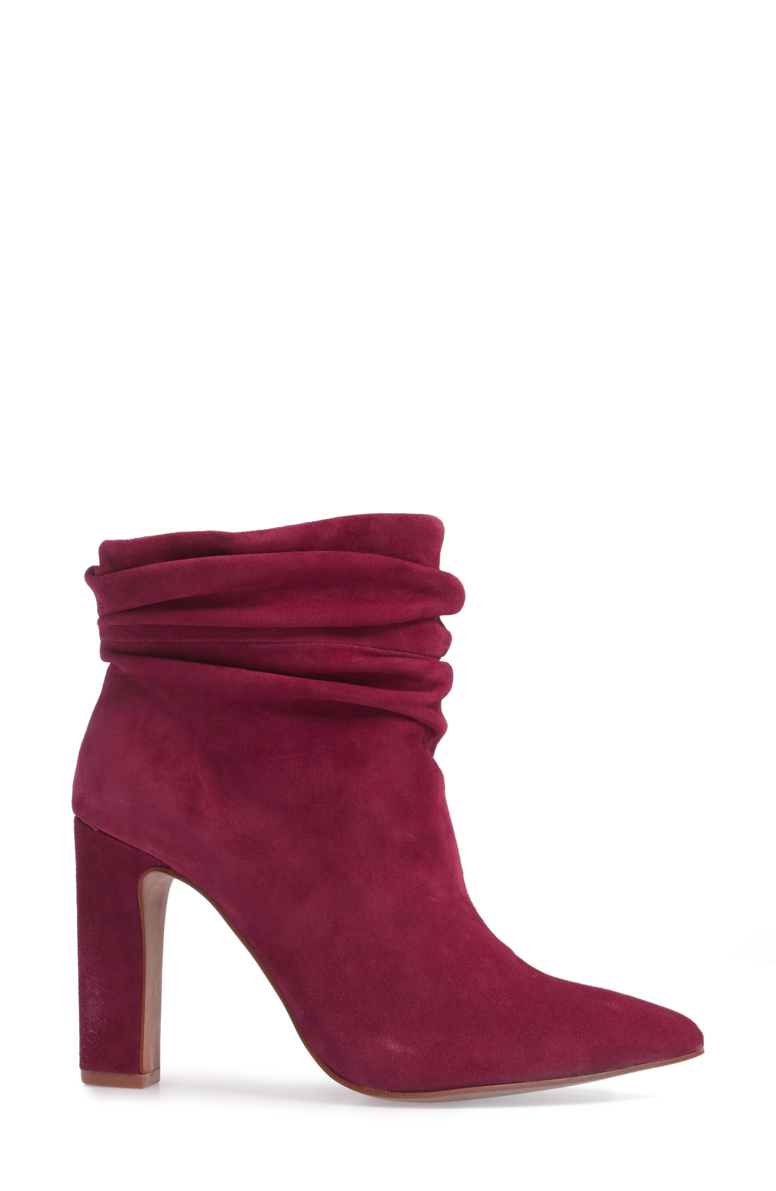 Kane Bootie,                             Alternate thumbnail 3, color,                             RED SUEDE
