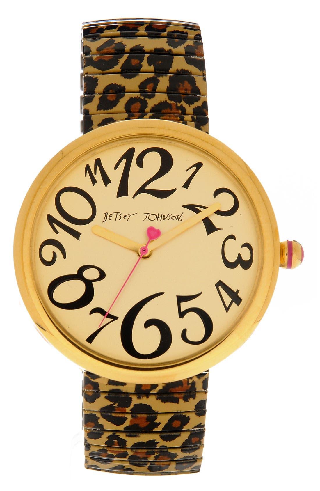 Round Expansion Bracelet Watch,                             Main thumbnail 1, color,                             200