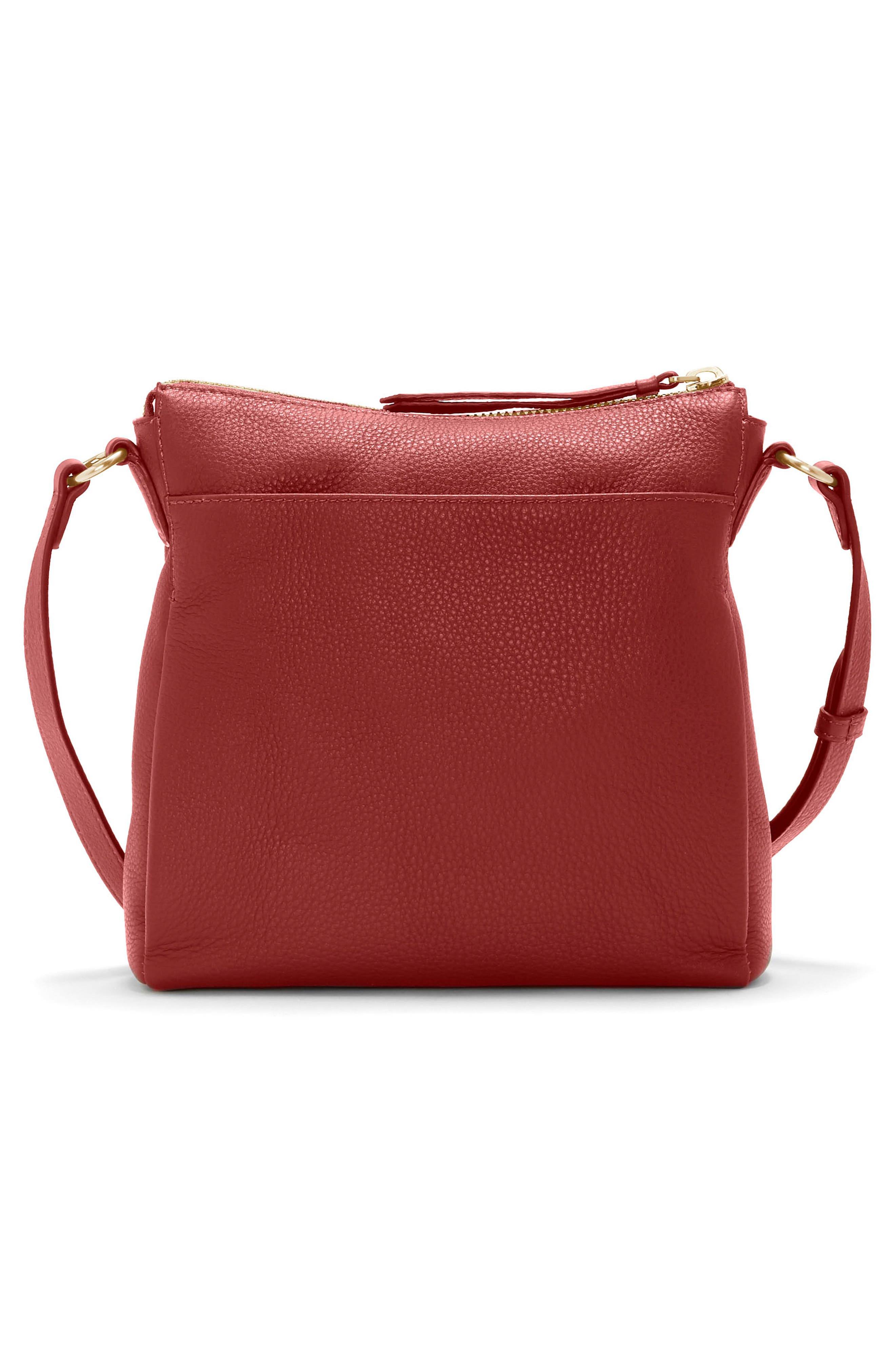 Staja Leather Crossbody Bag,                             Alternate thumbnail 2, color,                             PEPPER BERRY