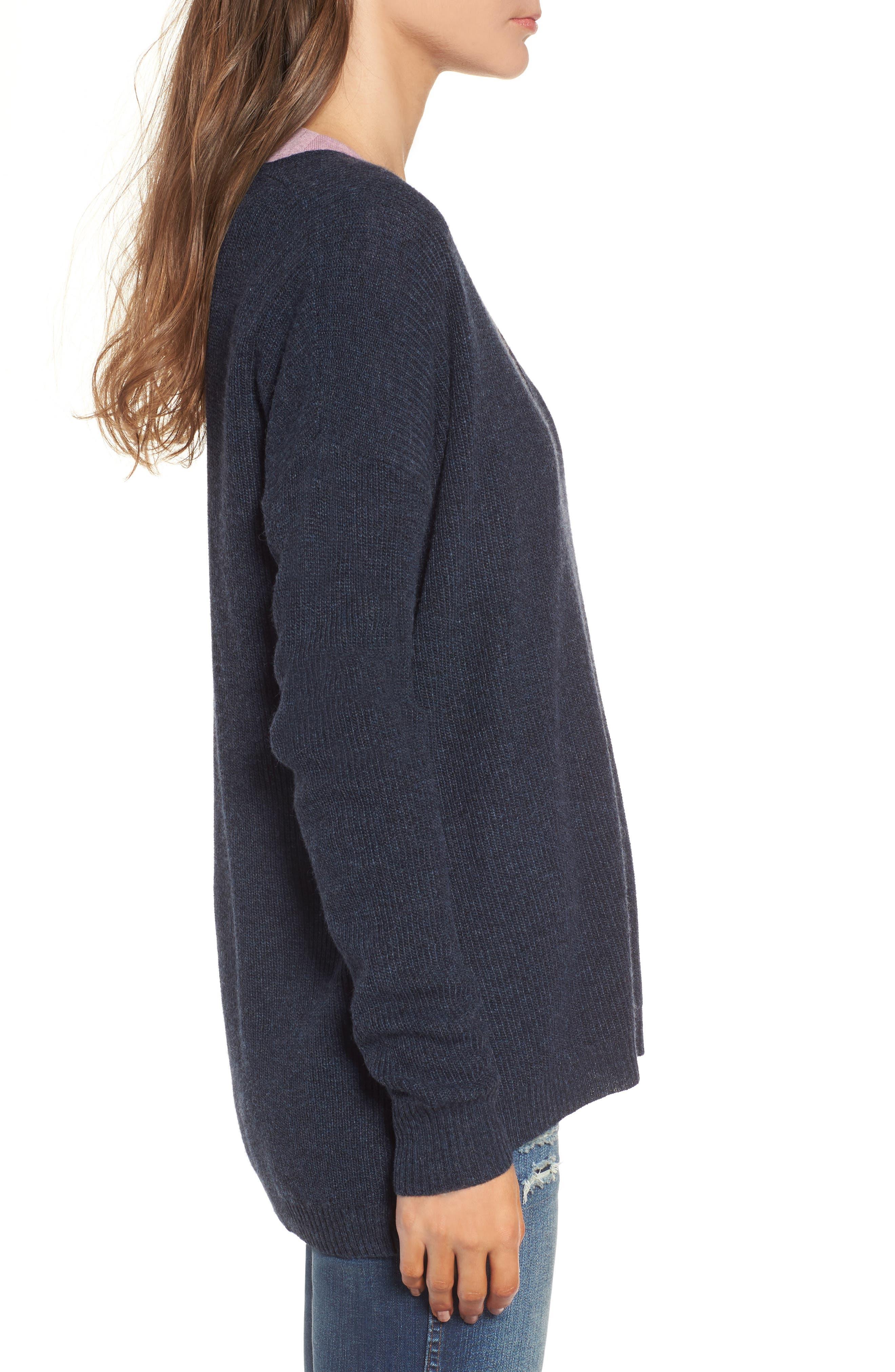 Warmlight V-Neck Sweater,                             Alternate thumbnail 3, color,                             400