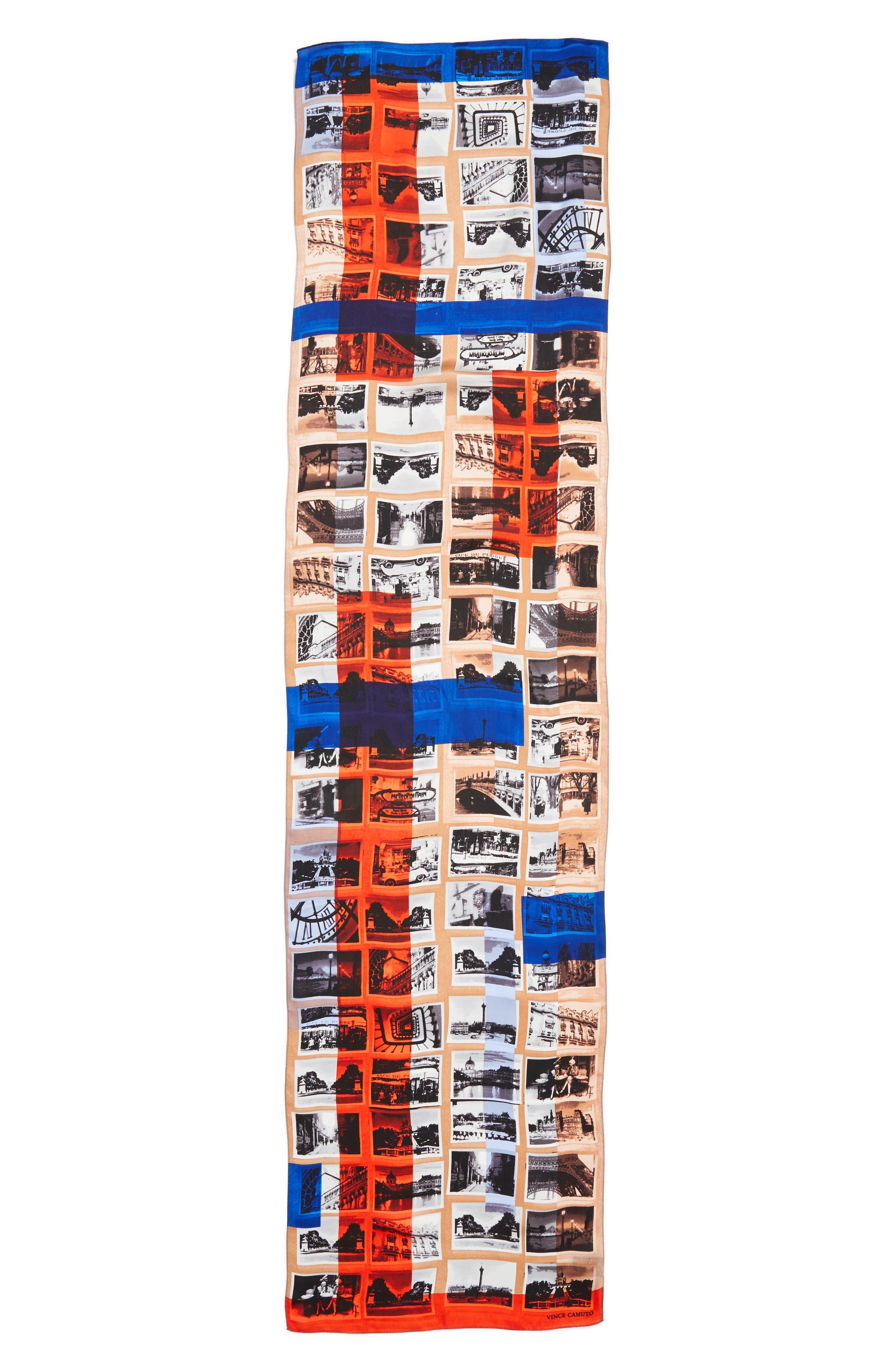 Paris Attic Photographs Silk Scarf,                             Alternate thumbnail 3, color,                             439