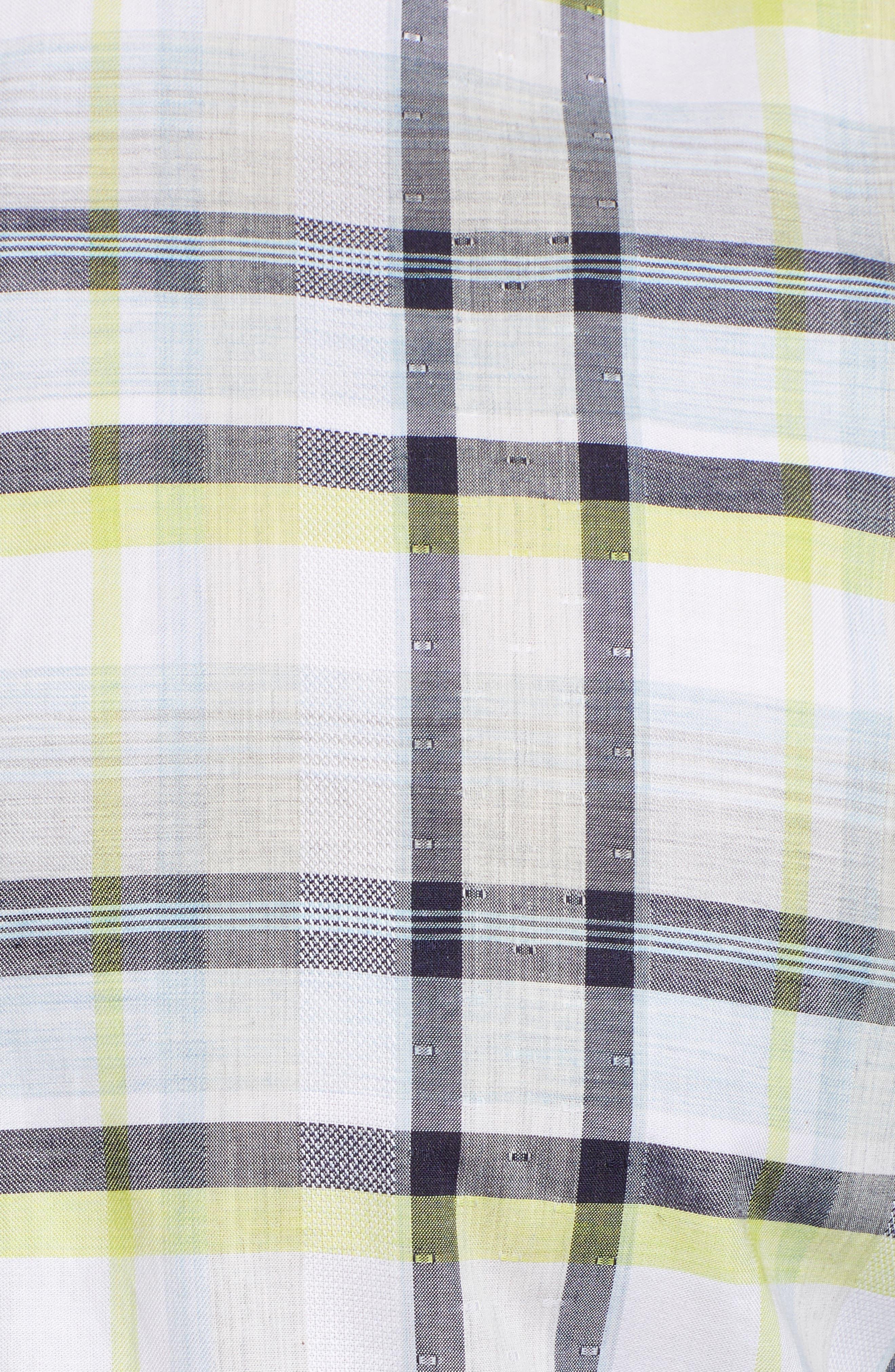 Large Check Sport Shirt,                             Alternate thumbnail 5, color,                             400