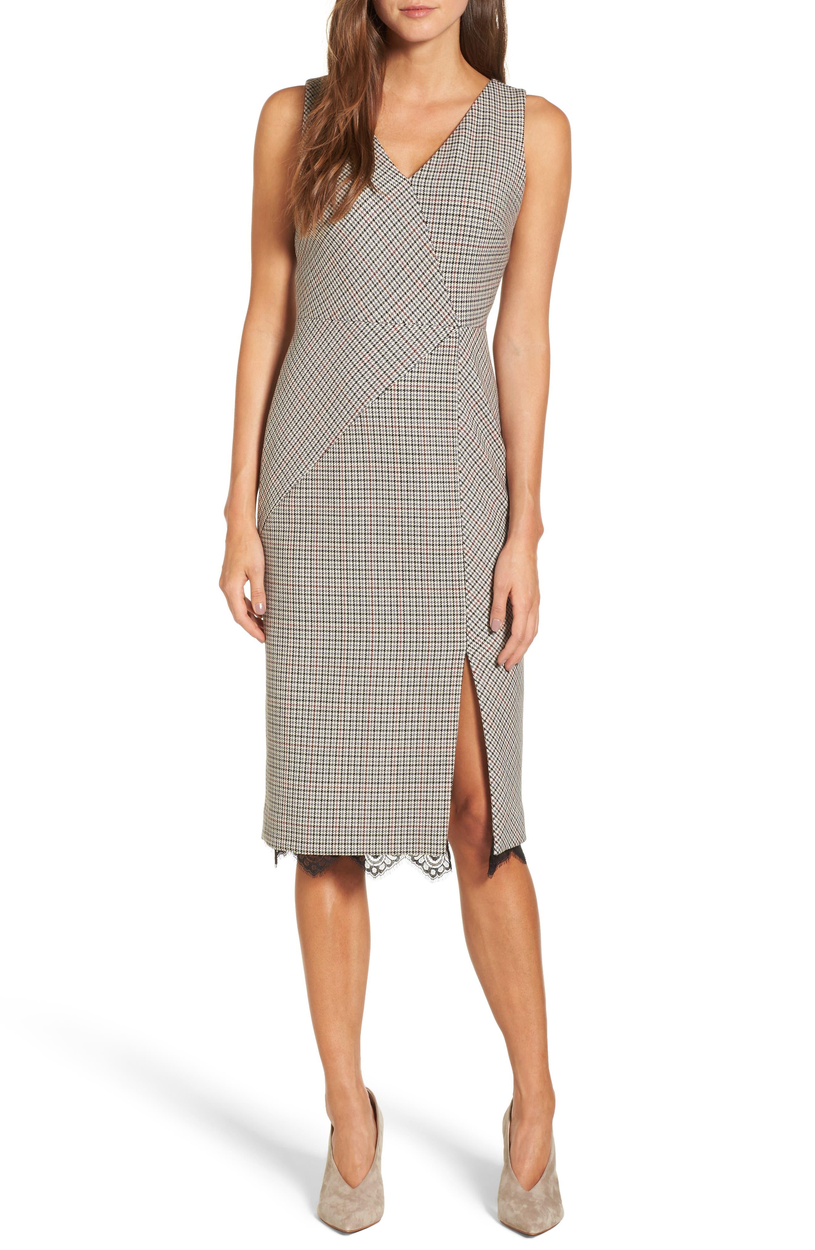 Houndstooth Sheath Dress, Main, color, 270
