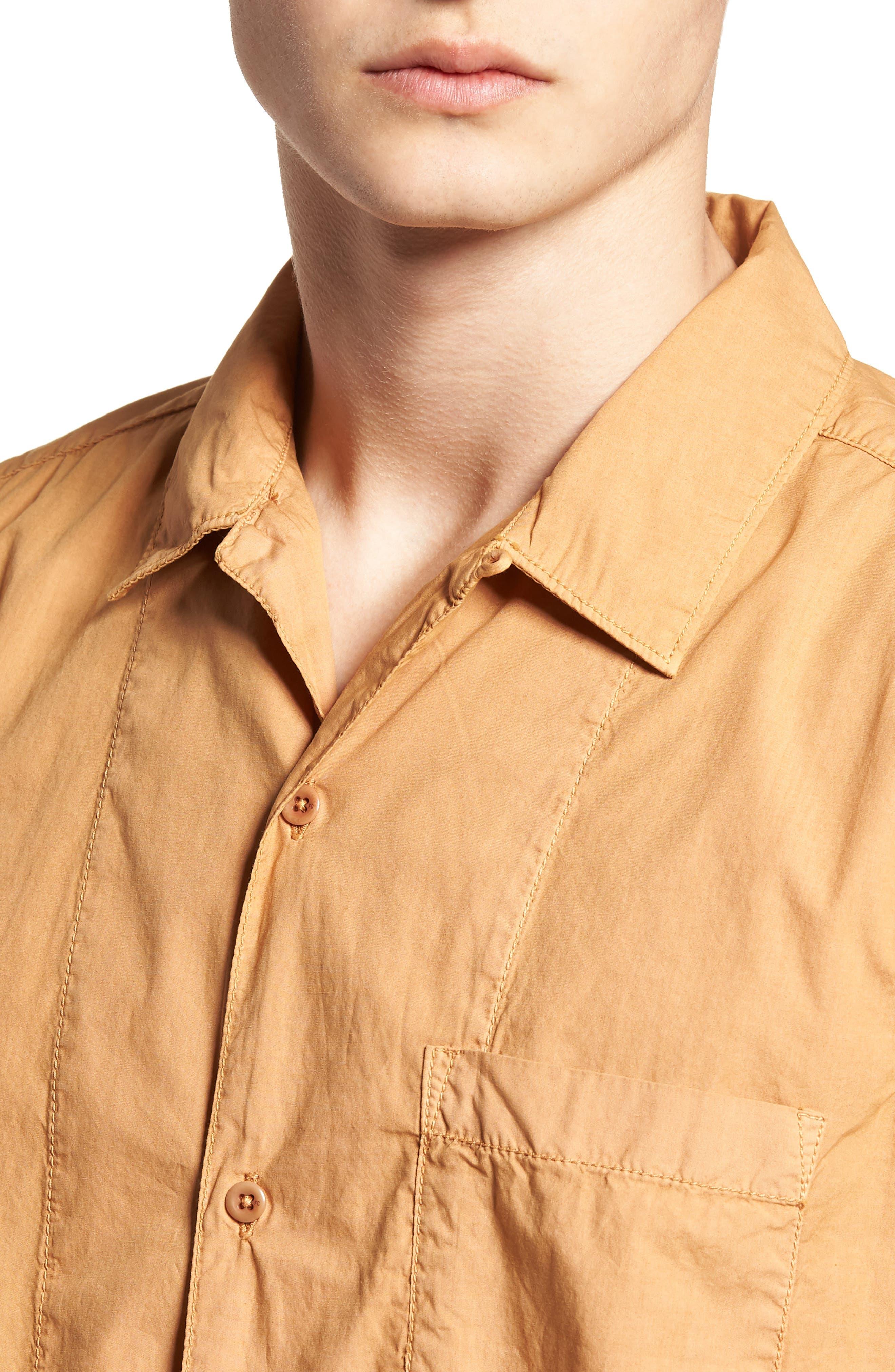 Slim Fit Solid Sport Shirt,                             Alternate thumbnail 4, color,                             DOE