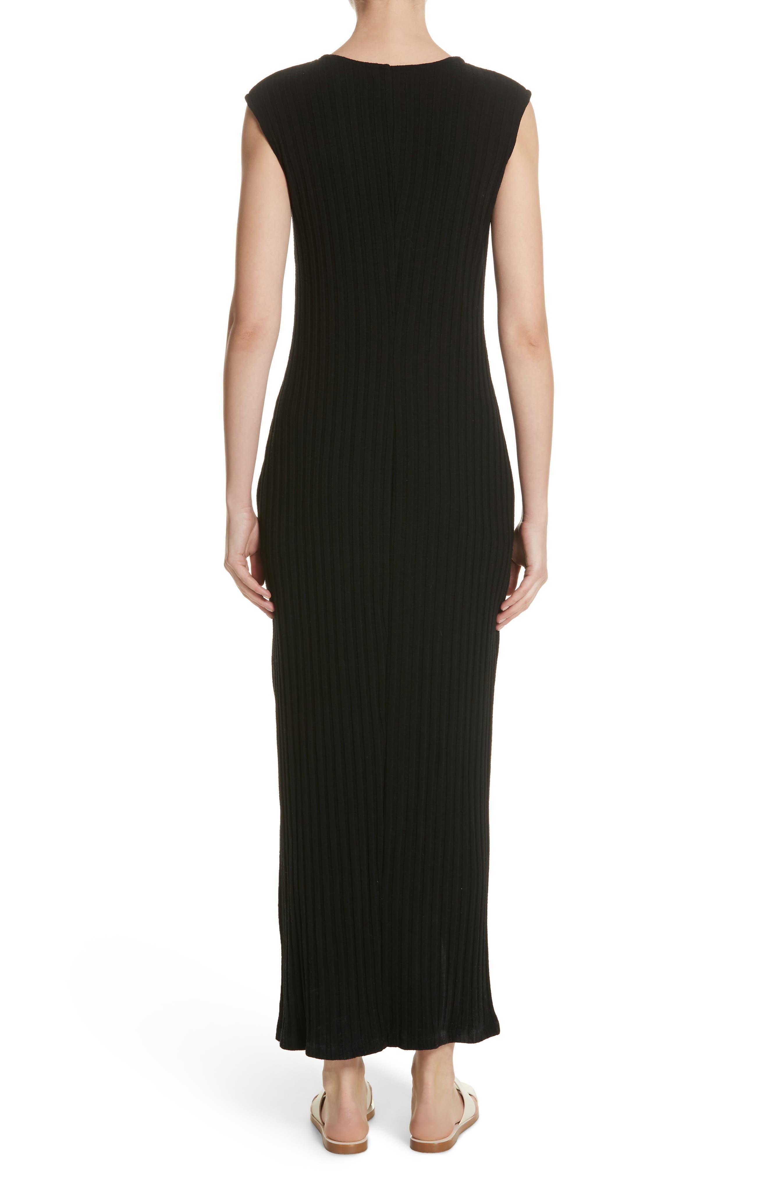 Tali Stretch Ribbed Body-Con Dress,                             Alternate thumbnail 2, color,                             BLACK