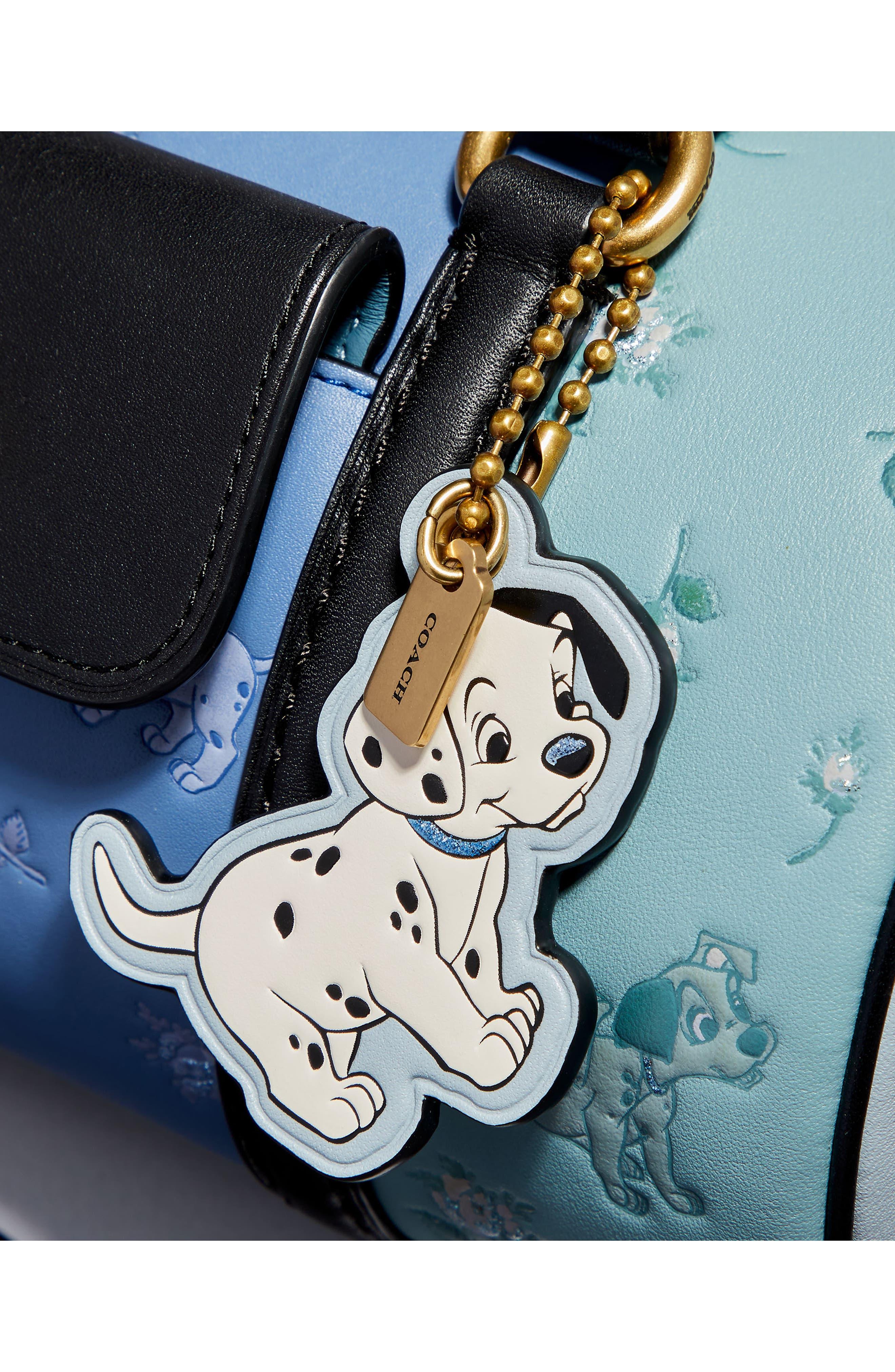 Disney x COACH 101 Dalmatians Leather Barrel Bag,                             Alternate thumbnail 7, color,                             402