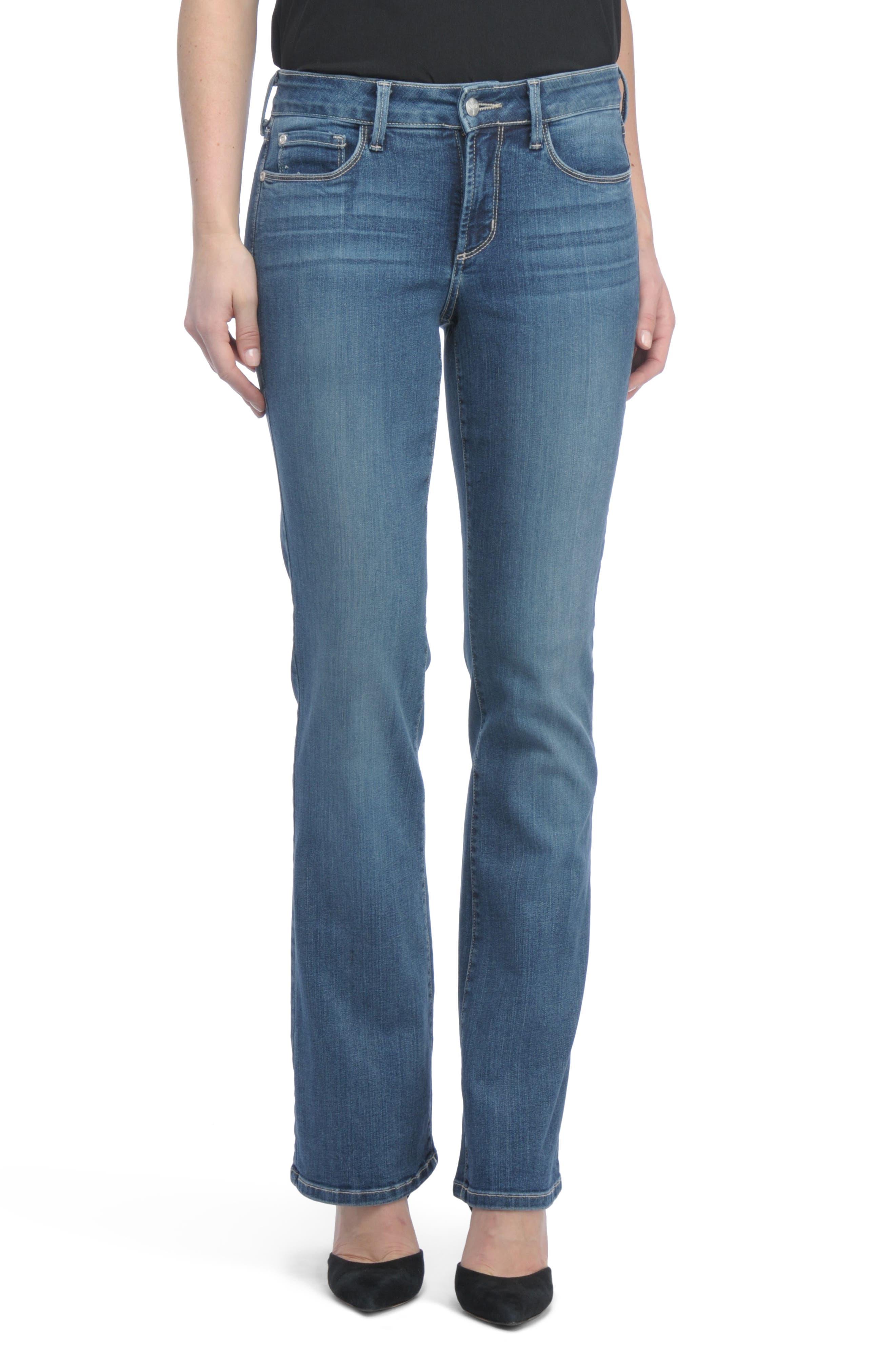 Barbara Bootcut Short Jeans,                             Main thumbnail 1, color,
