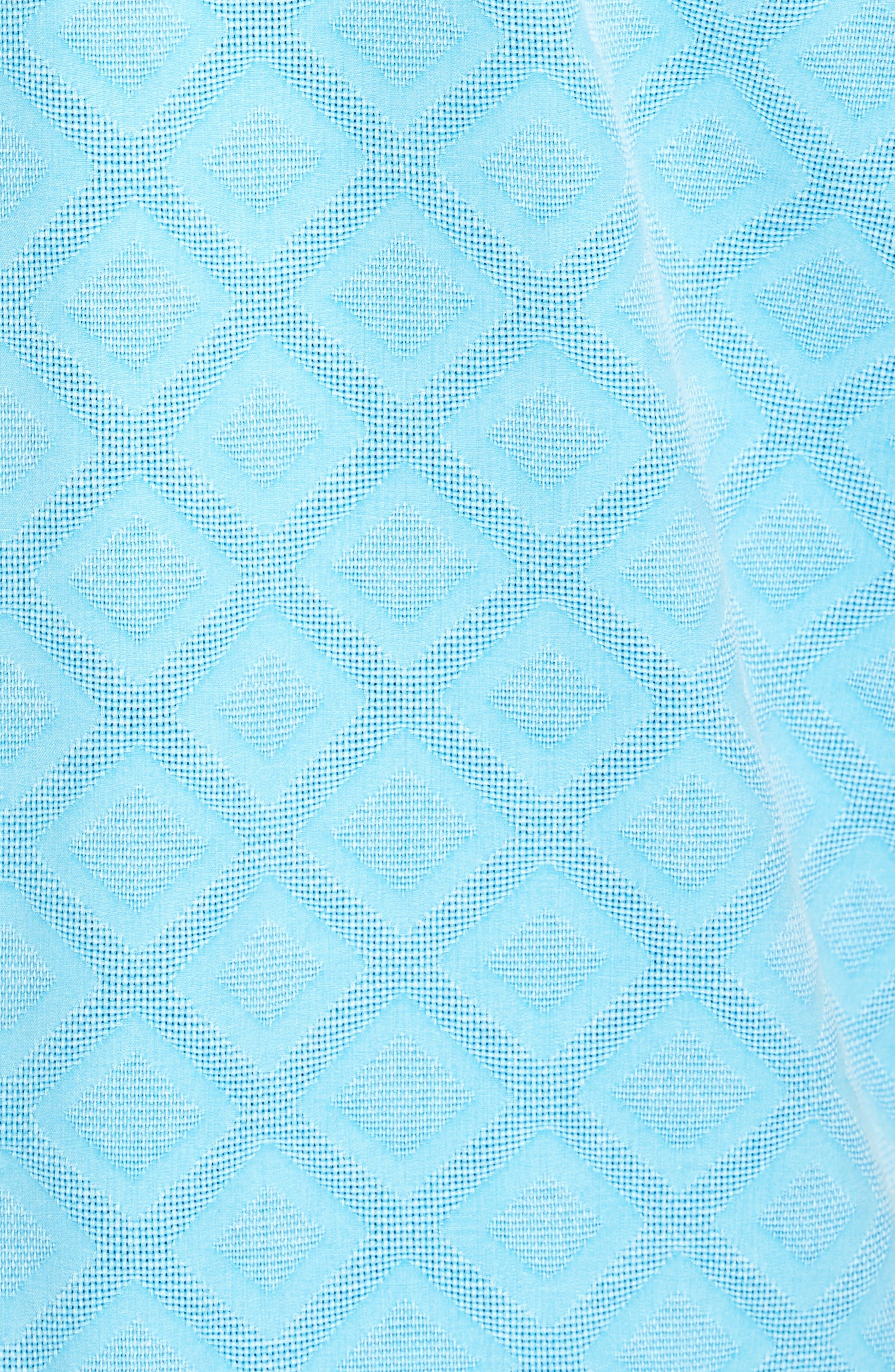 Solid Diamond Isle Silk Sport Shirt,                             Alternate thumbnail 10, color,