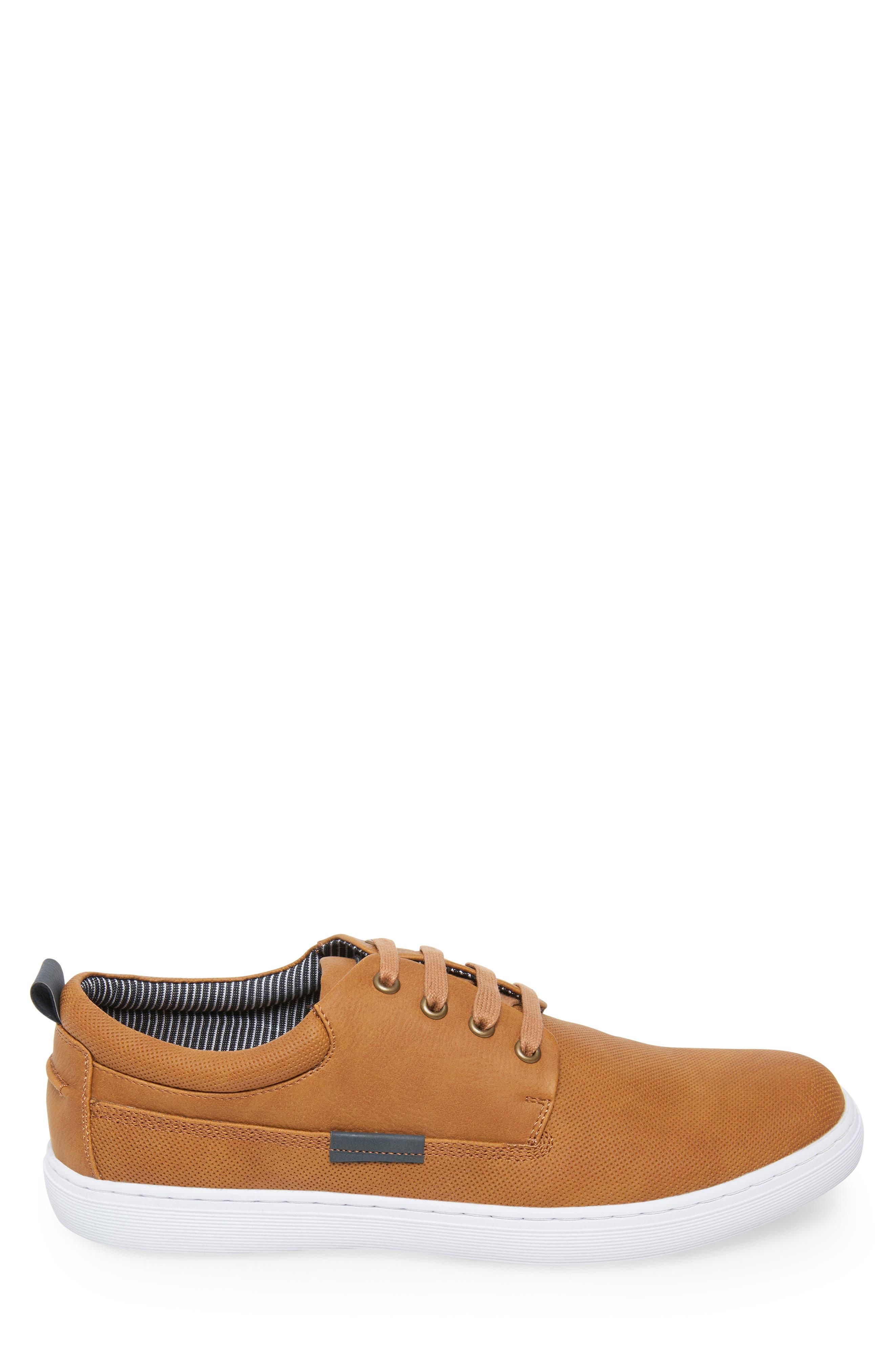 Halliday Sneaker,                             Alternate thumbnail 3, color,                             COGNAC