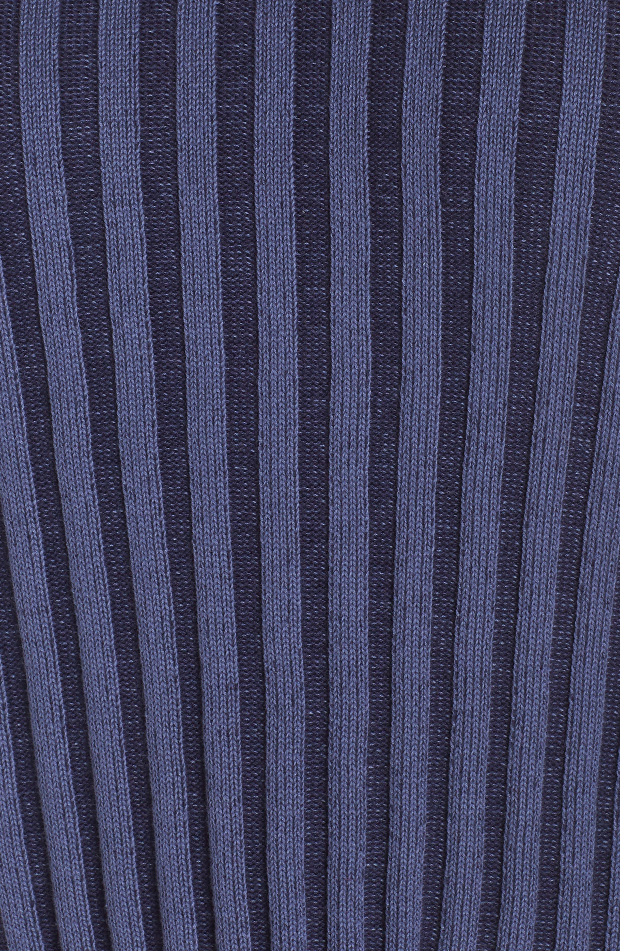 Shadow Rib Crop Sweater,                             Alternate thumbnail 11, color,                             NAVY EVENING