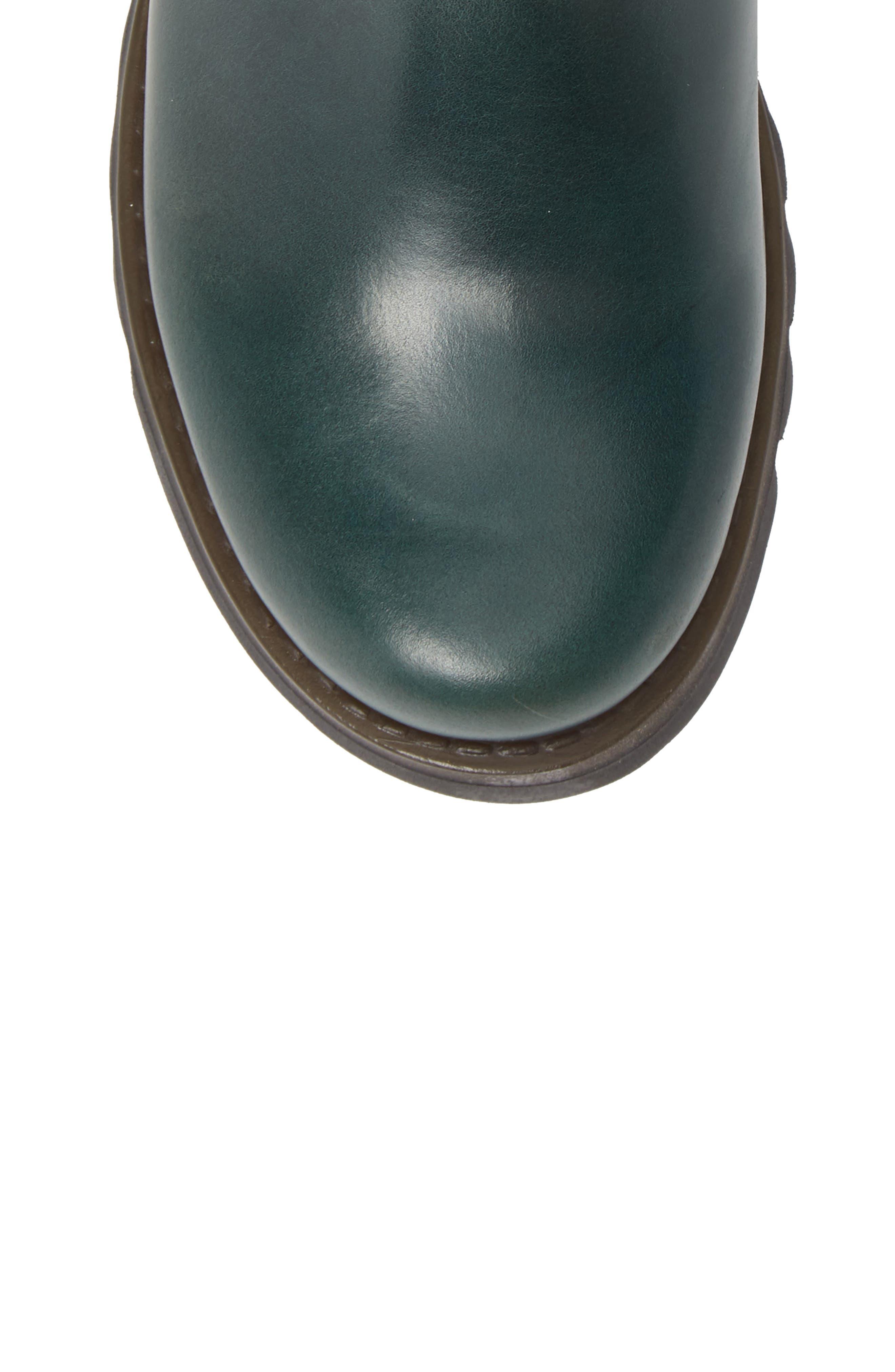 Scon Waterproof Gore-Tex<sup>®</sup> Chelsea Boot,                             Alternate thumbnail 5, color,                             PETROL