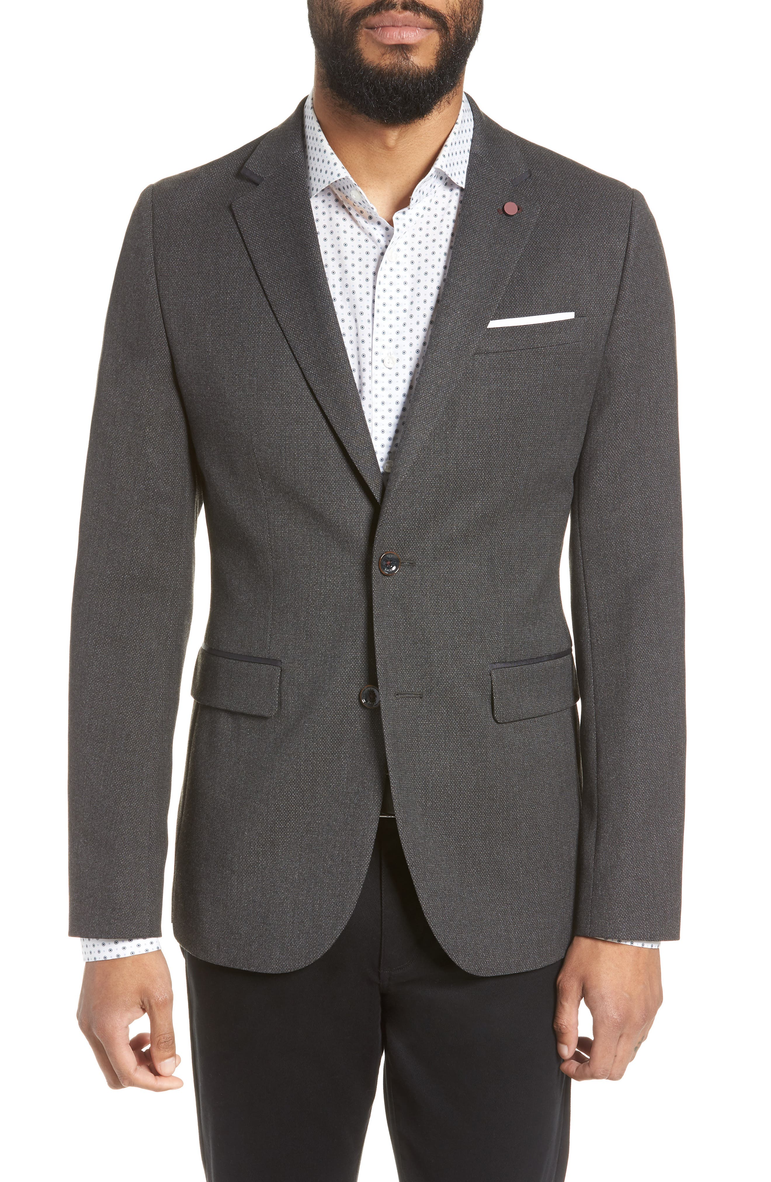 Hazlnut Trim Fit Sport Coat,                         Main,                         color, 020