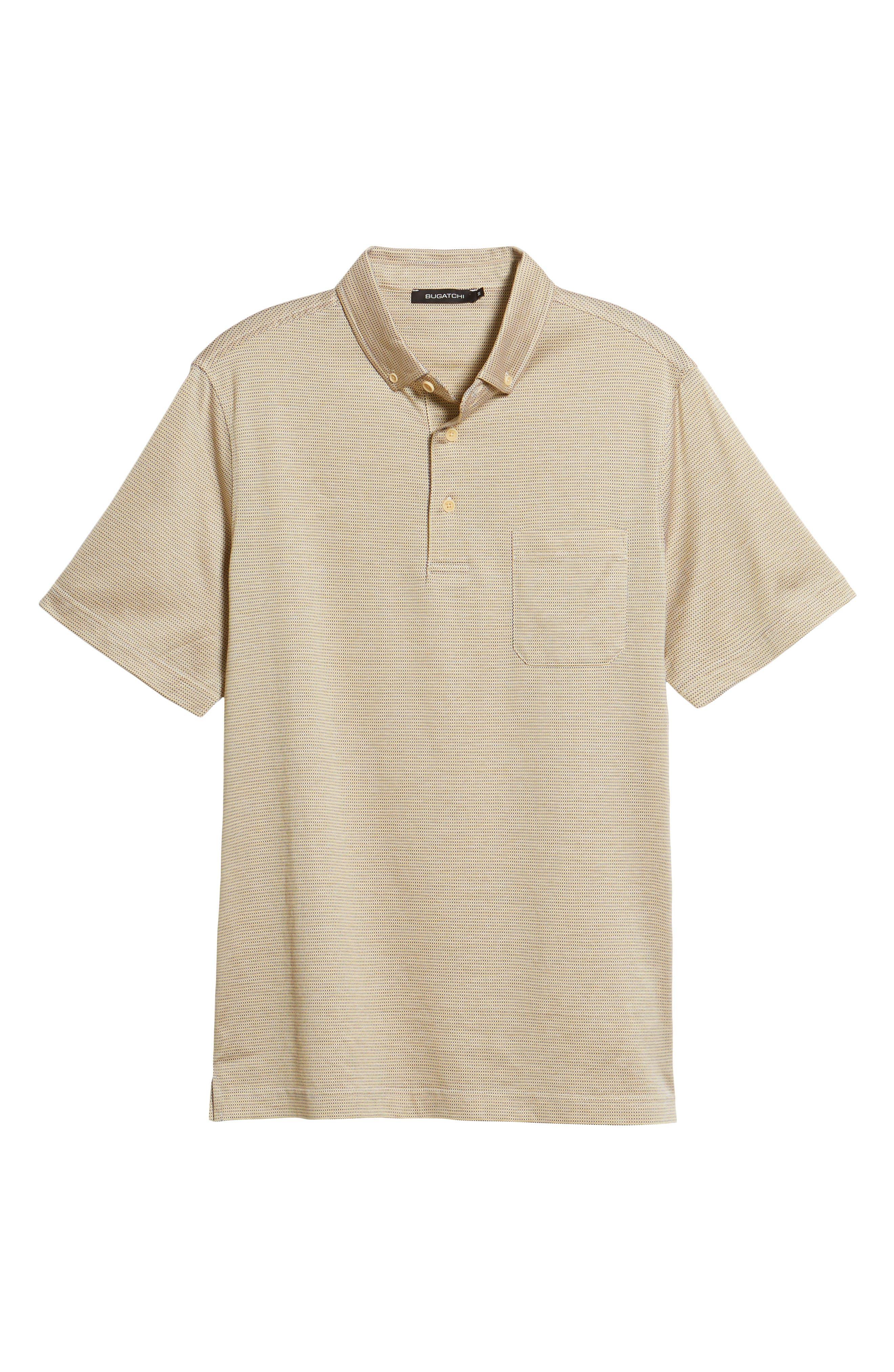 Dot Mercerized Cotton Polo,                             Alternate thumbnail 6, color,                             SUN