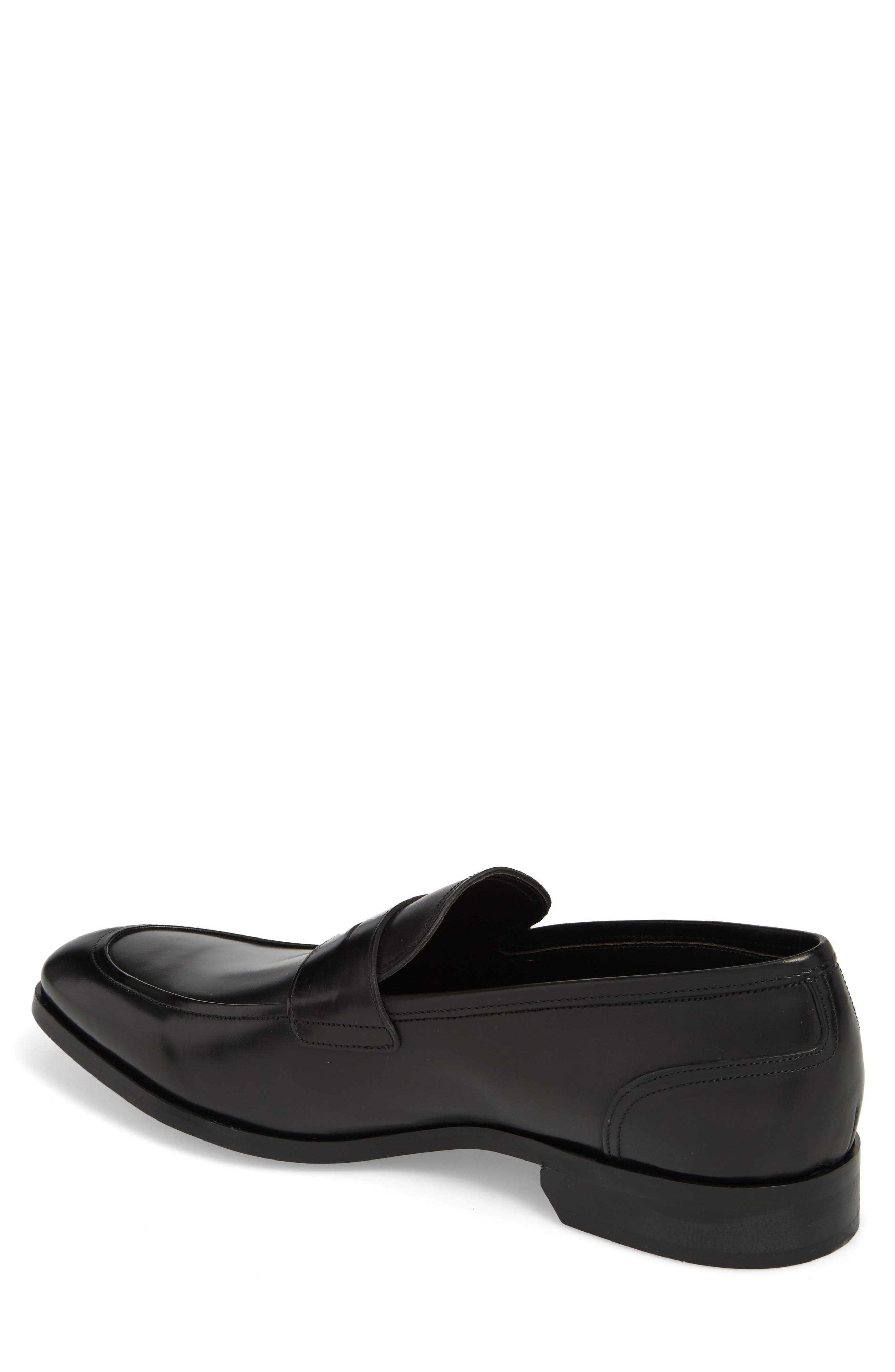 Deane Penny Loafer,                             Alternate thumbnail 2, color,                             BLACK LEATHER