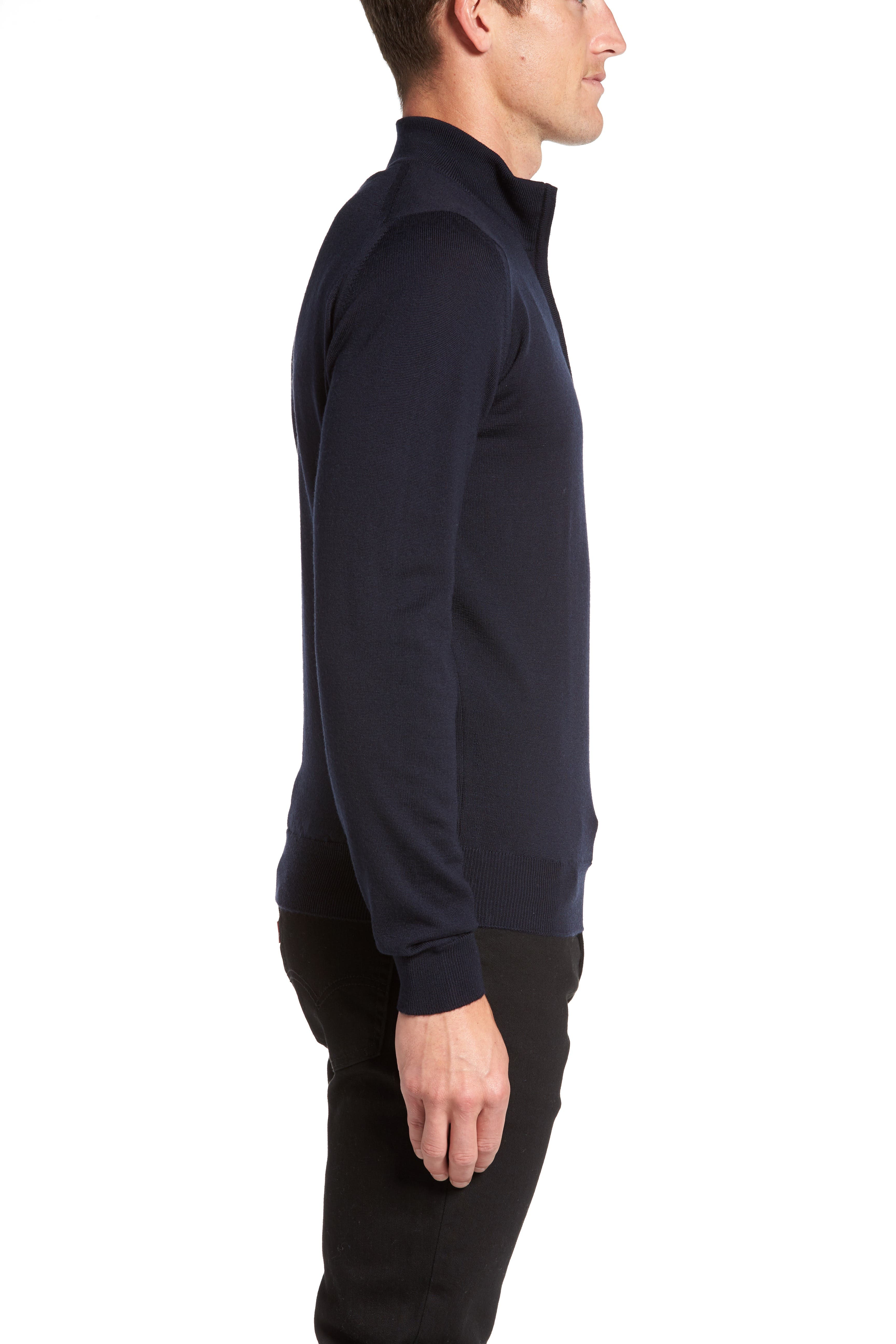 'Tapton' Quarter Zip Merino Wool Sweater,                             Alternate thumbnail 6, color,                             412