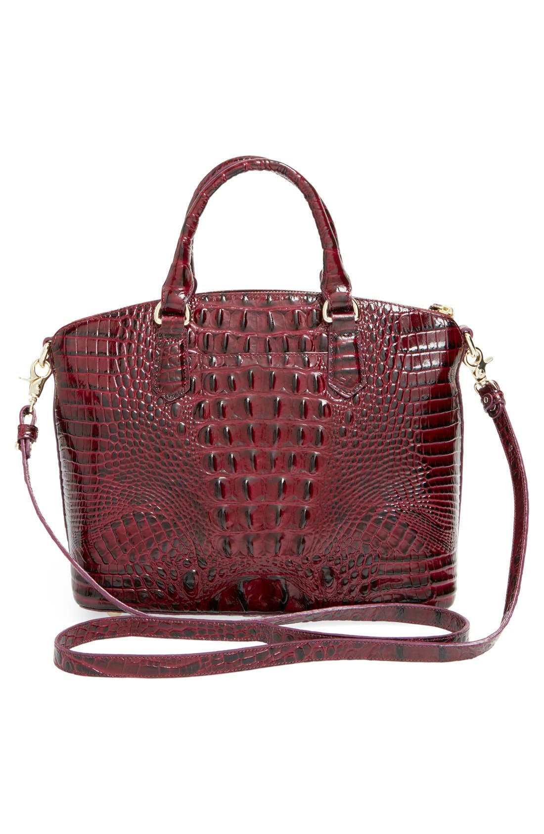 'Medium Duxbury' Croc Embossed Leather Satchel,                             Alternate thumbnail 102, color,