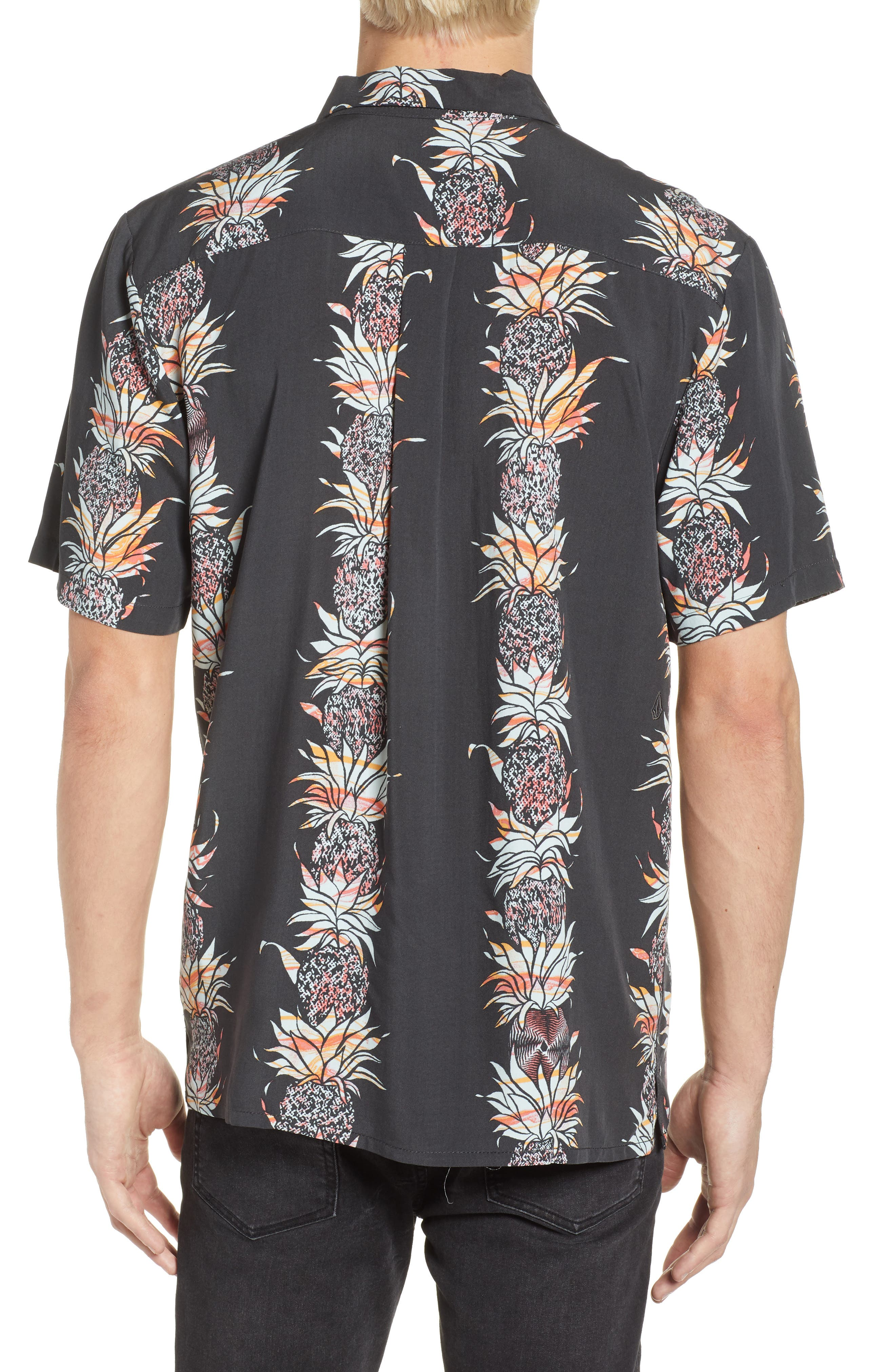 Palm Glitch Woven Shirt,                             Alternate thumbnail 3, color,