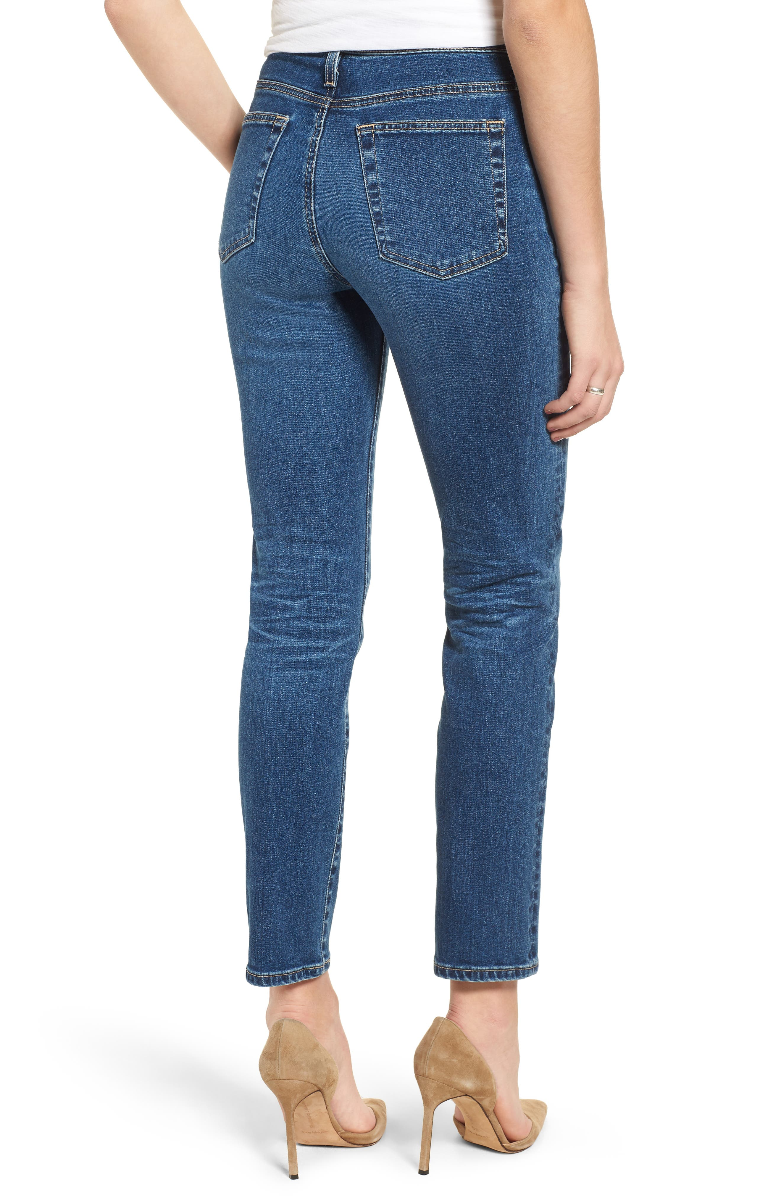 The Isabelle High Waist Crop Straight Leg Jeans,                             Alternate thumbnail 2, color,                             10 YEARS CAMBRIA