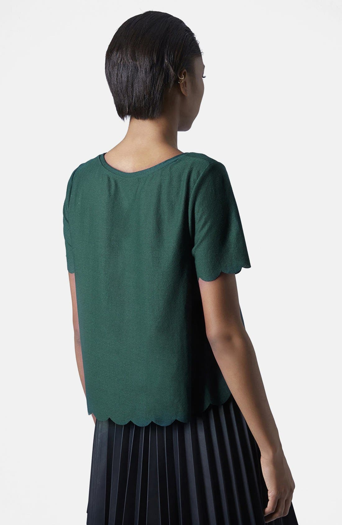 Scallop Frill Tee,                             Alternate thumbnail 38, color,