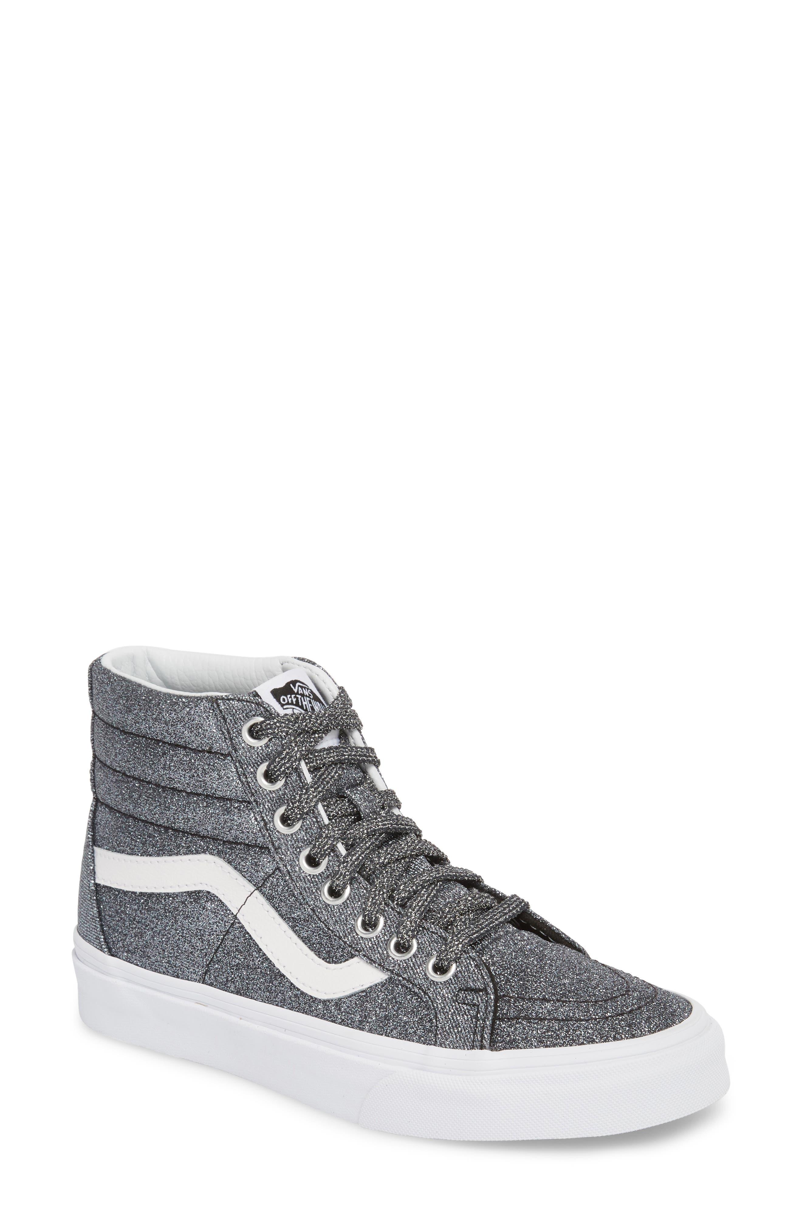 UA Sk8-Hi Reissue Glitter Sneaker,                             Main thumbnail 1, color,                             001