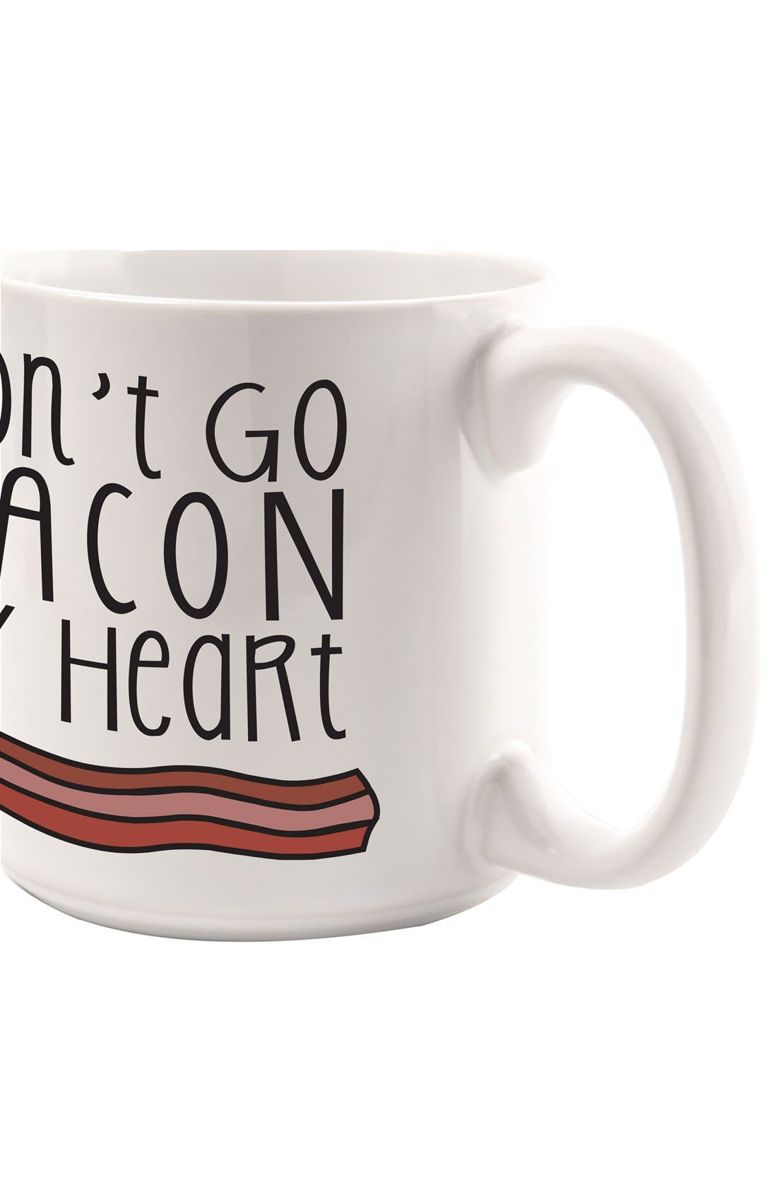 CATHY'S CONCEPTS,                             'Bacon & Eggs' Ceramic Coffee Mugs,                             Alternate thumbnail 5, color,                             100