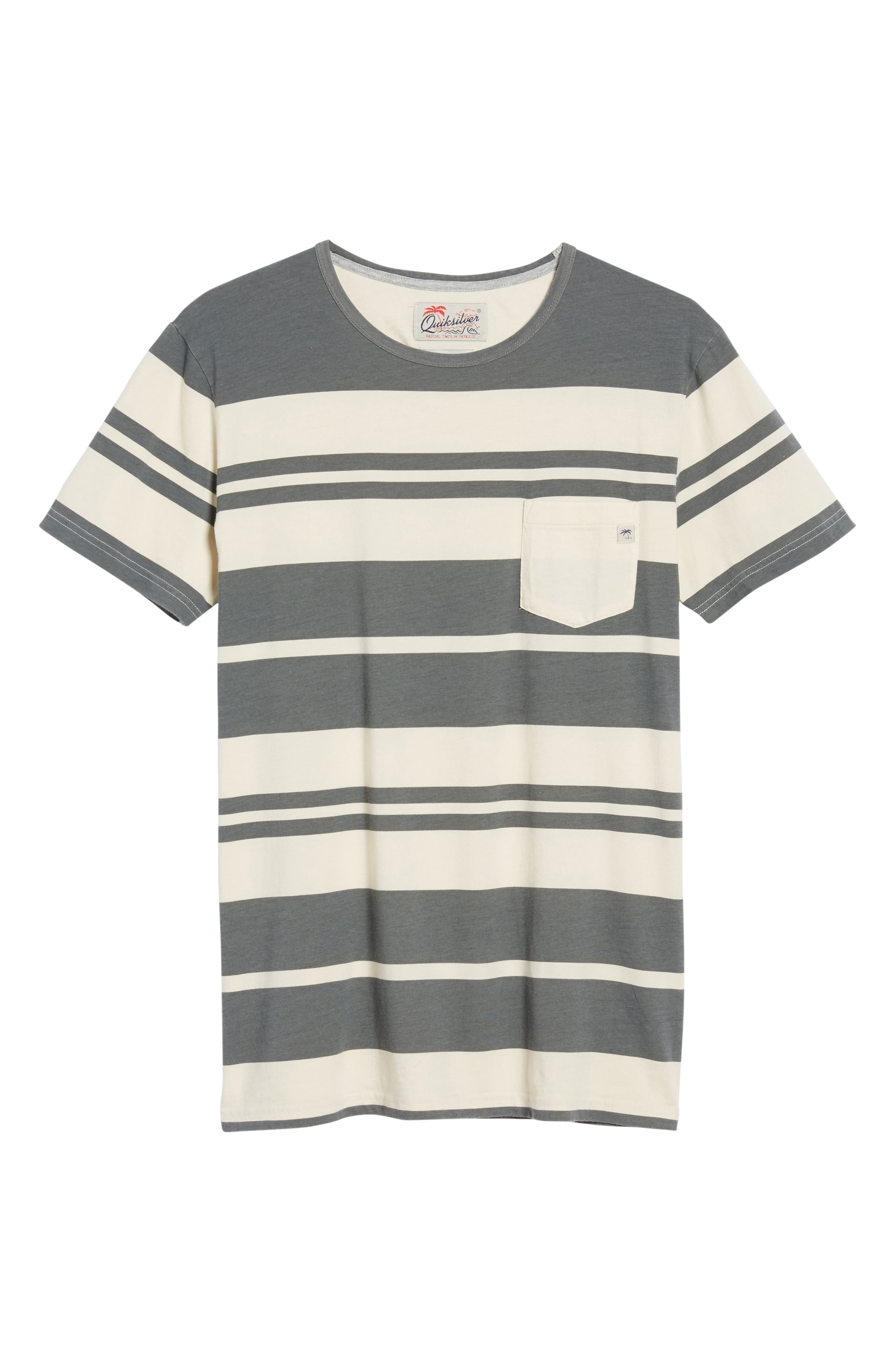 Lokea Stripe Pocket T-Shirt,                             Alternate thumbnail 6, color,                             012