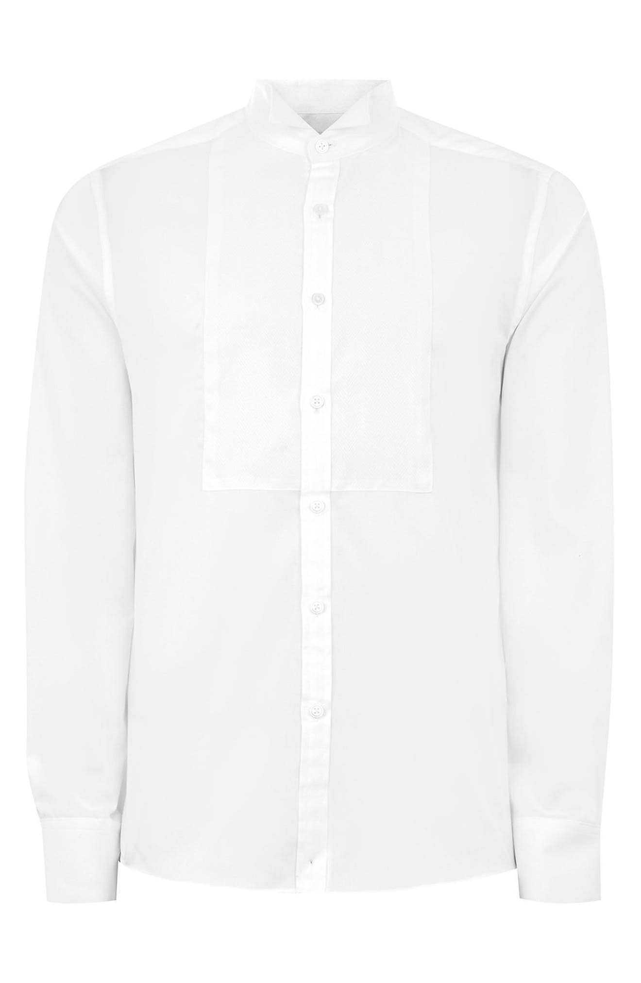 Wing Collar Classic Shirt,                             Alternate thumbnail 4, color,                             WHITE