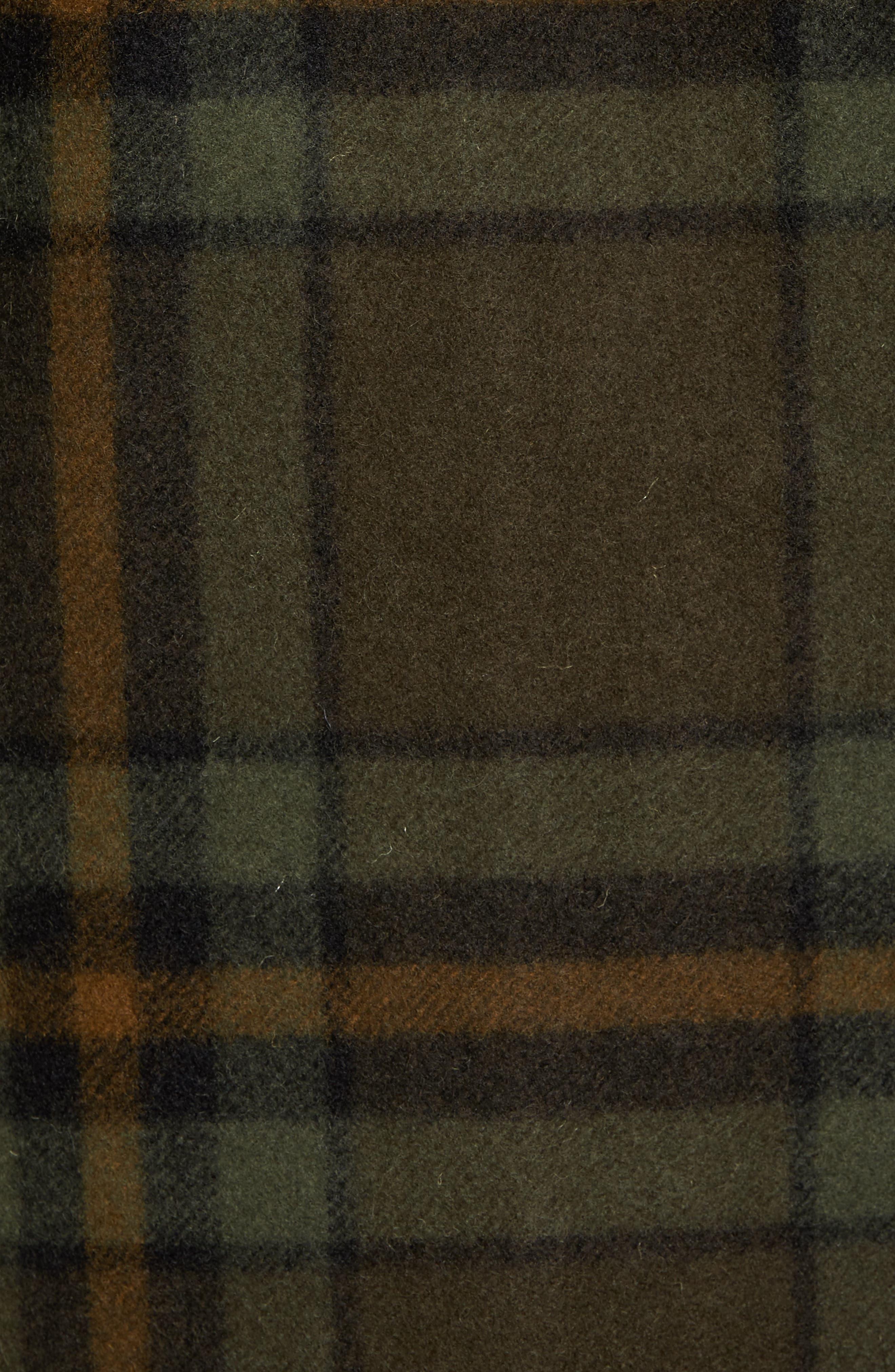 'Macinaw' Plaid Wool Flannel Shirt Jacket,                             Alternate thumbnail 11, color,