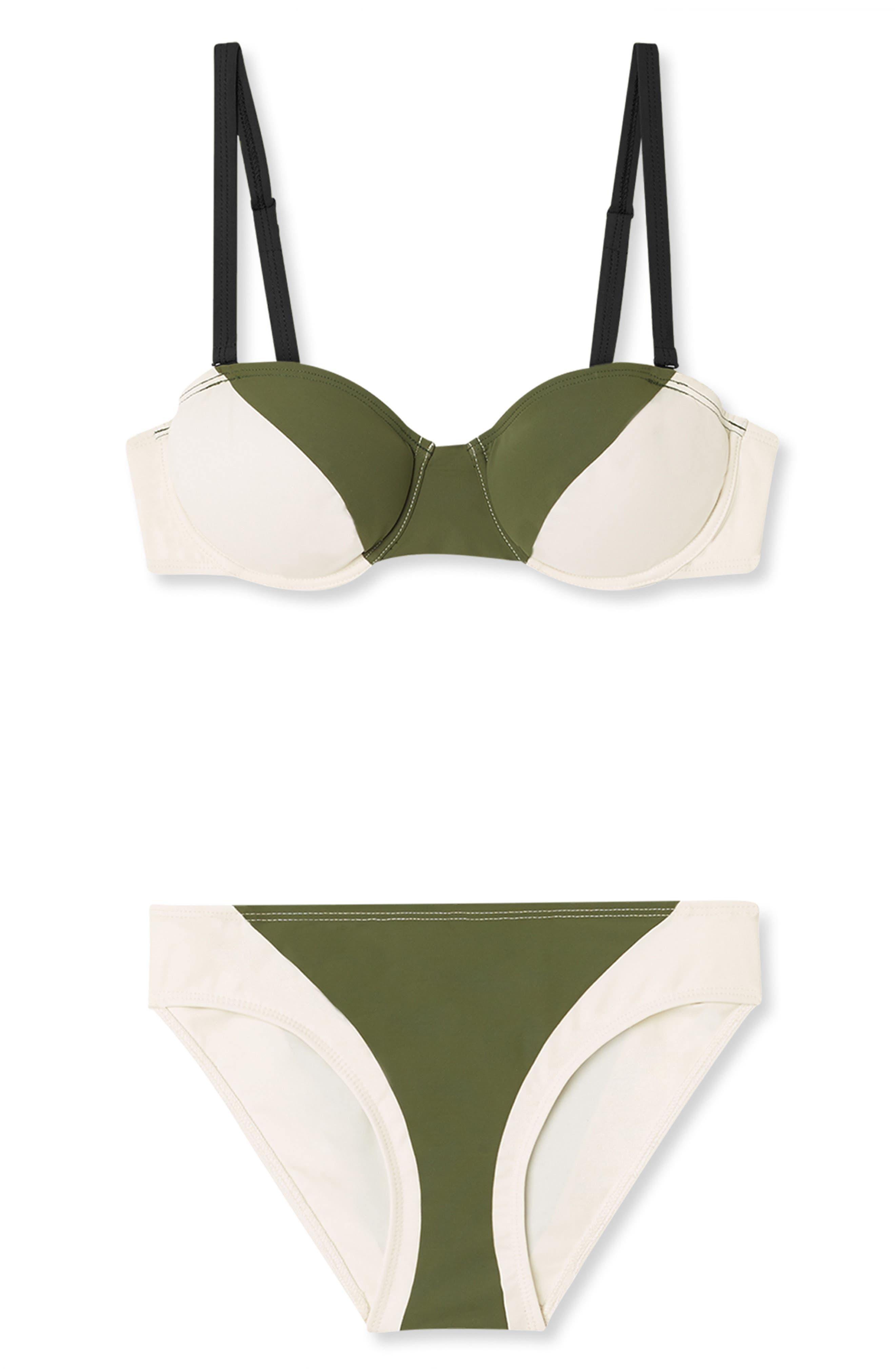 FLAGPOLE Electra Underwire Bikini Top in Olive Multi