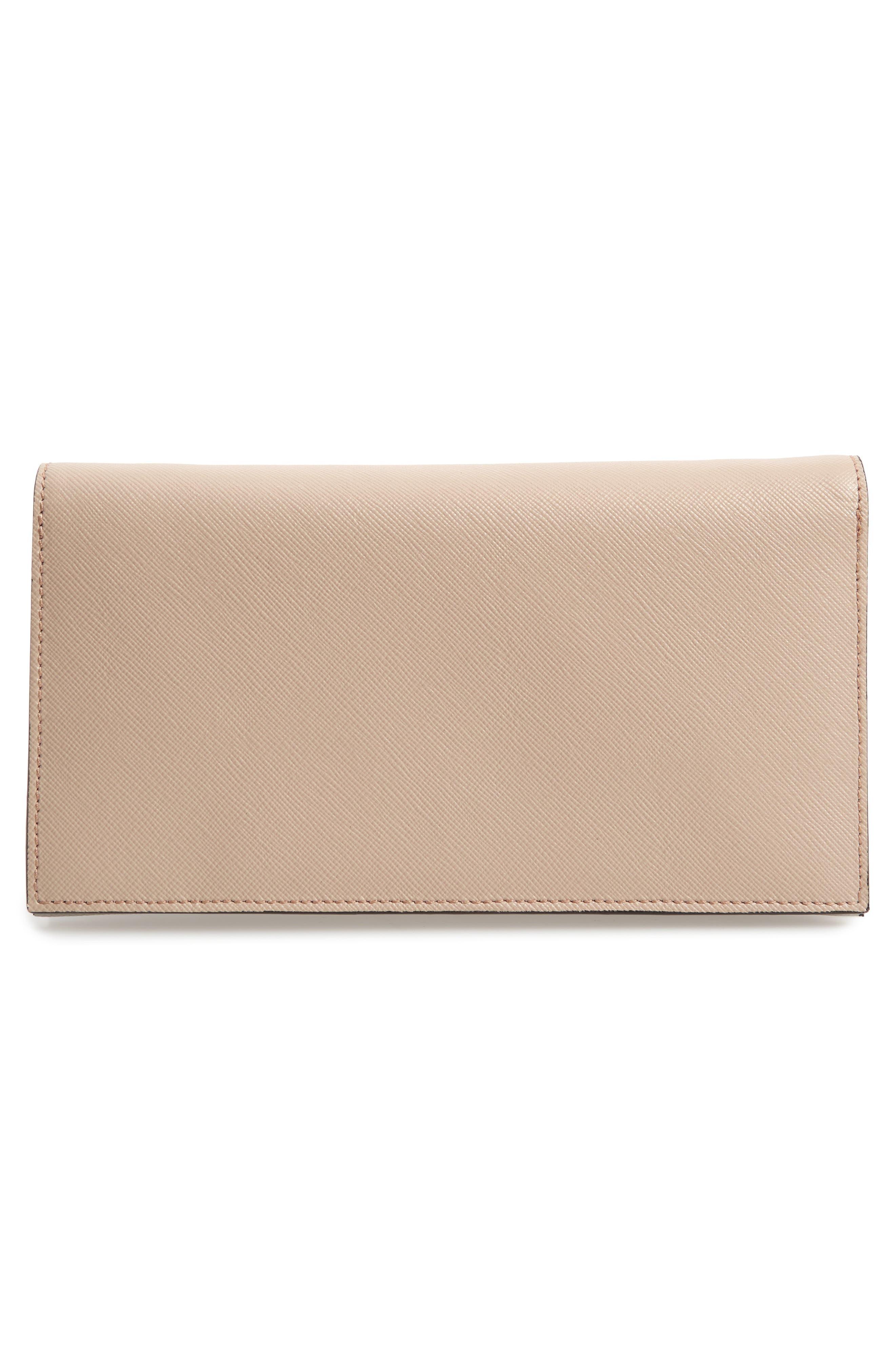 Trunk Leather Crossbody Wallet,                             Alternate thumbnail 4, color,                             LIGHT CAMEL/ VANILLA/ PELICAN