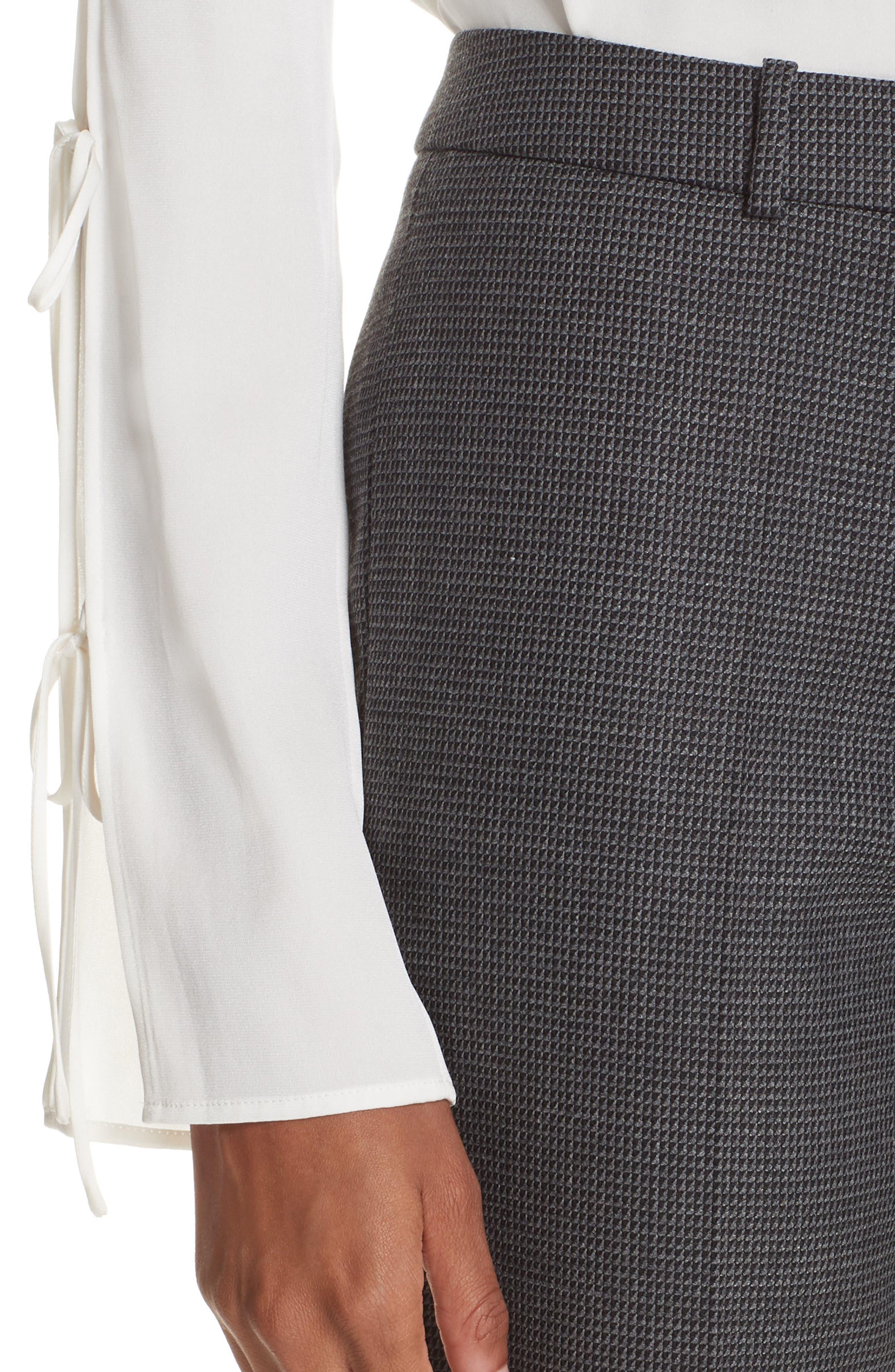 Tilunana Pinstripe Suit Trousers,                             Alternate thumbnail 4, color,                             020