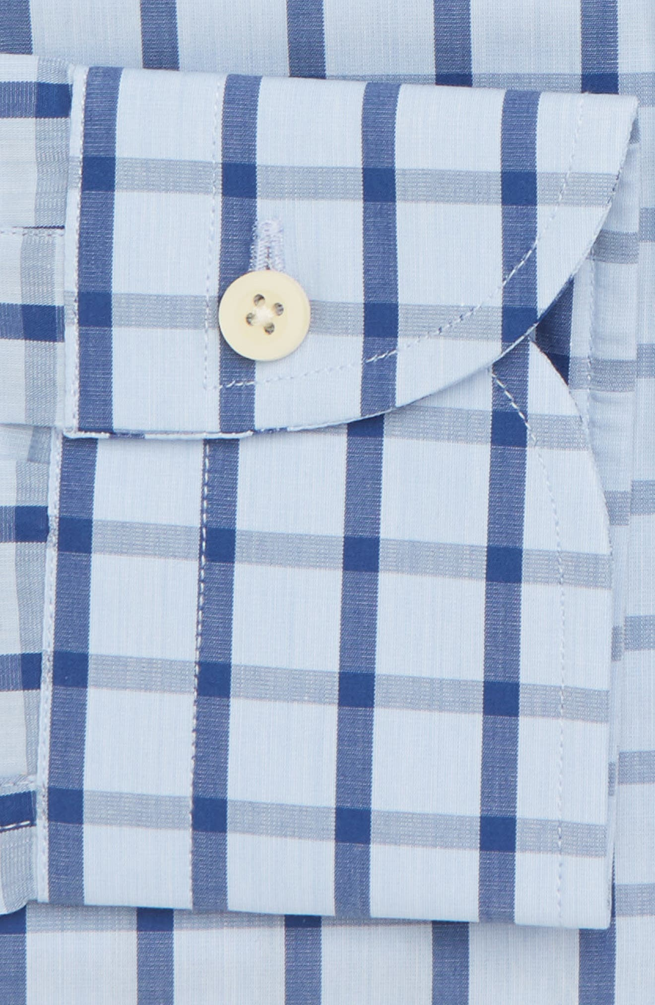 Hayden Trim Fit Windowpane Dress Shirt,                             Alternate thumbnail 13, color,