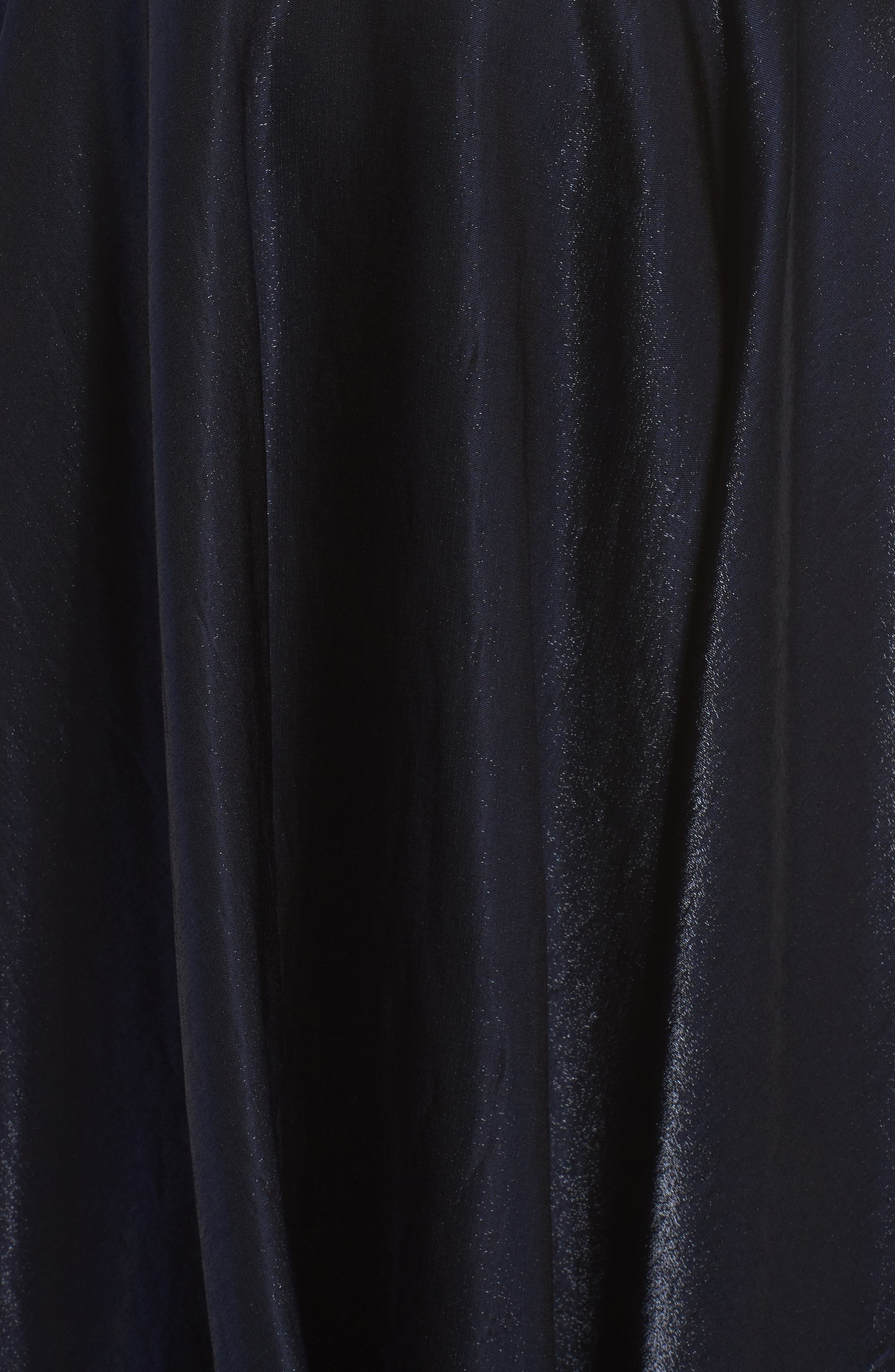 Plunging Satin A-Line Gown,                             Alternate thumbnail 5, color,                             410