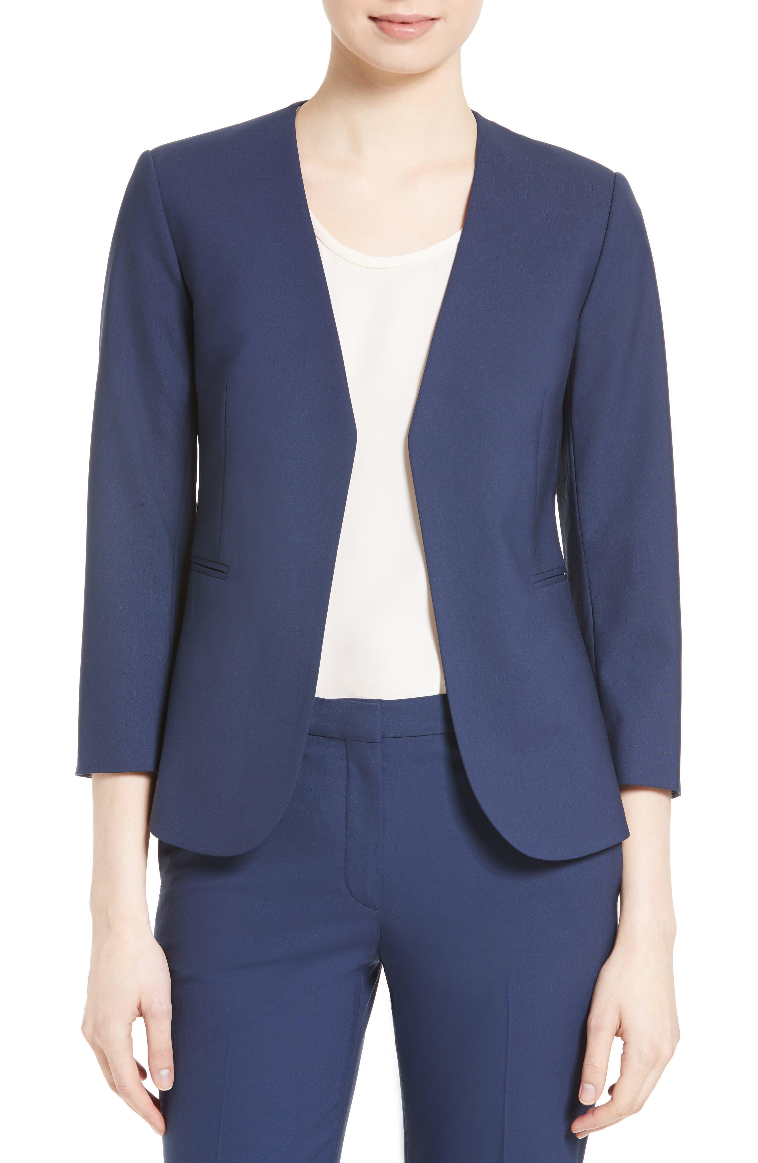 Lindrayia B Good Wool Suit Jacket,                             Main thumbnail 3, color,