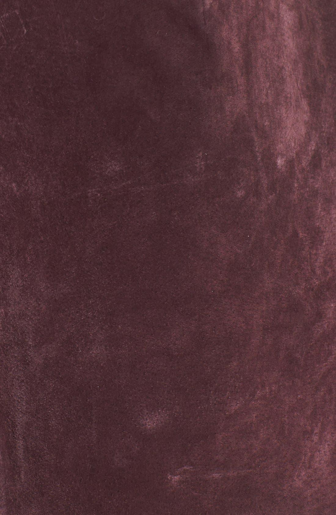 Suede Miniskirt,                             Alternate thumbnail 35, color,