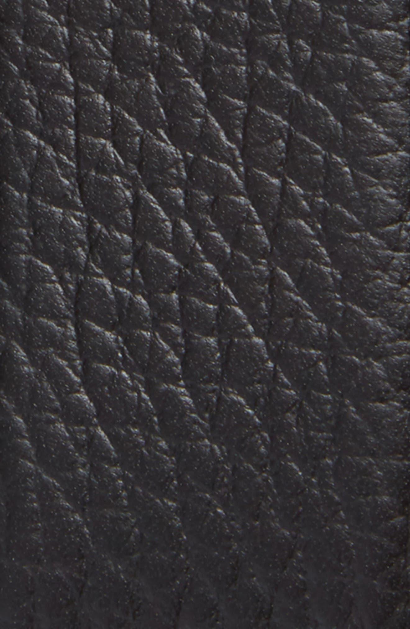 Double Gancio Leather Belt,                             Alternate thumbnail 2, color,                             BLACK/ BLUE MARINE