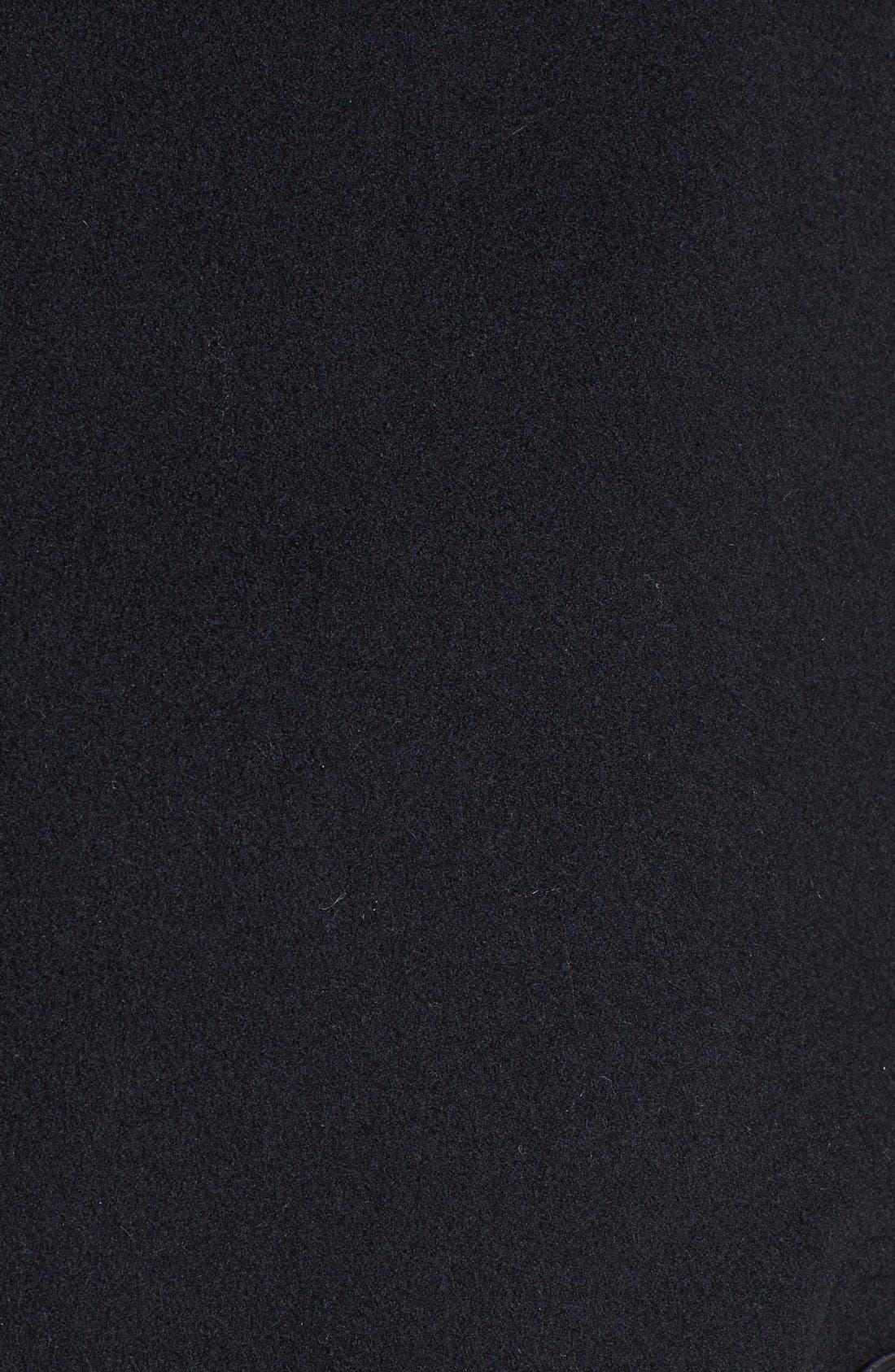 Wool Blend Cape,                             Alternate thumbnail 3, color,                             001