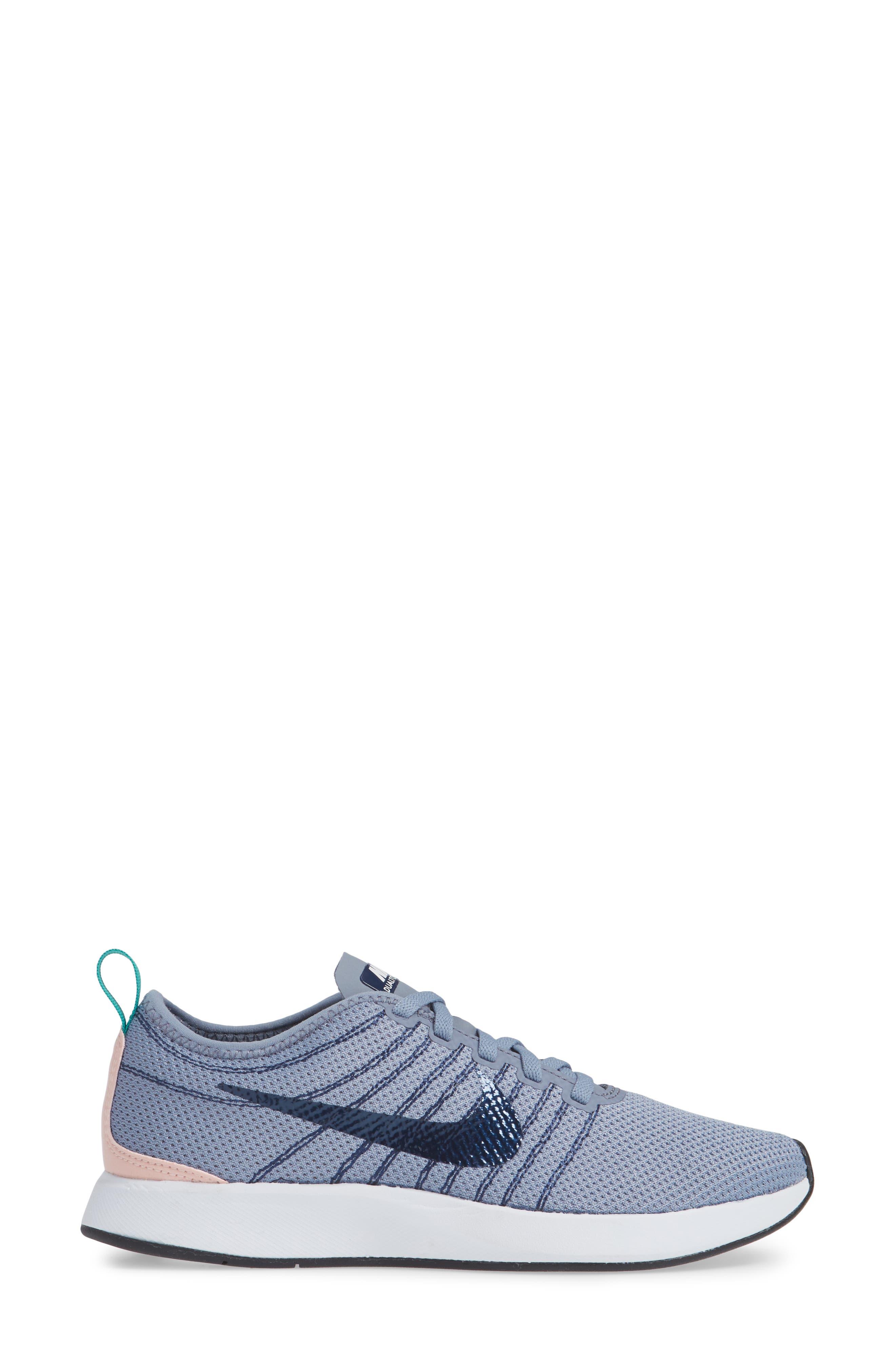 Dualtone Racer Running Shoe,                             Alternate thumbnail 3, color,                             ASHEN SLATE/ NAVY/ STORM PINK