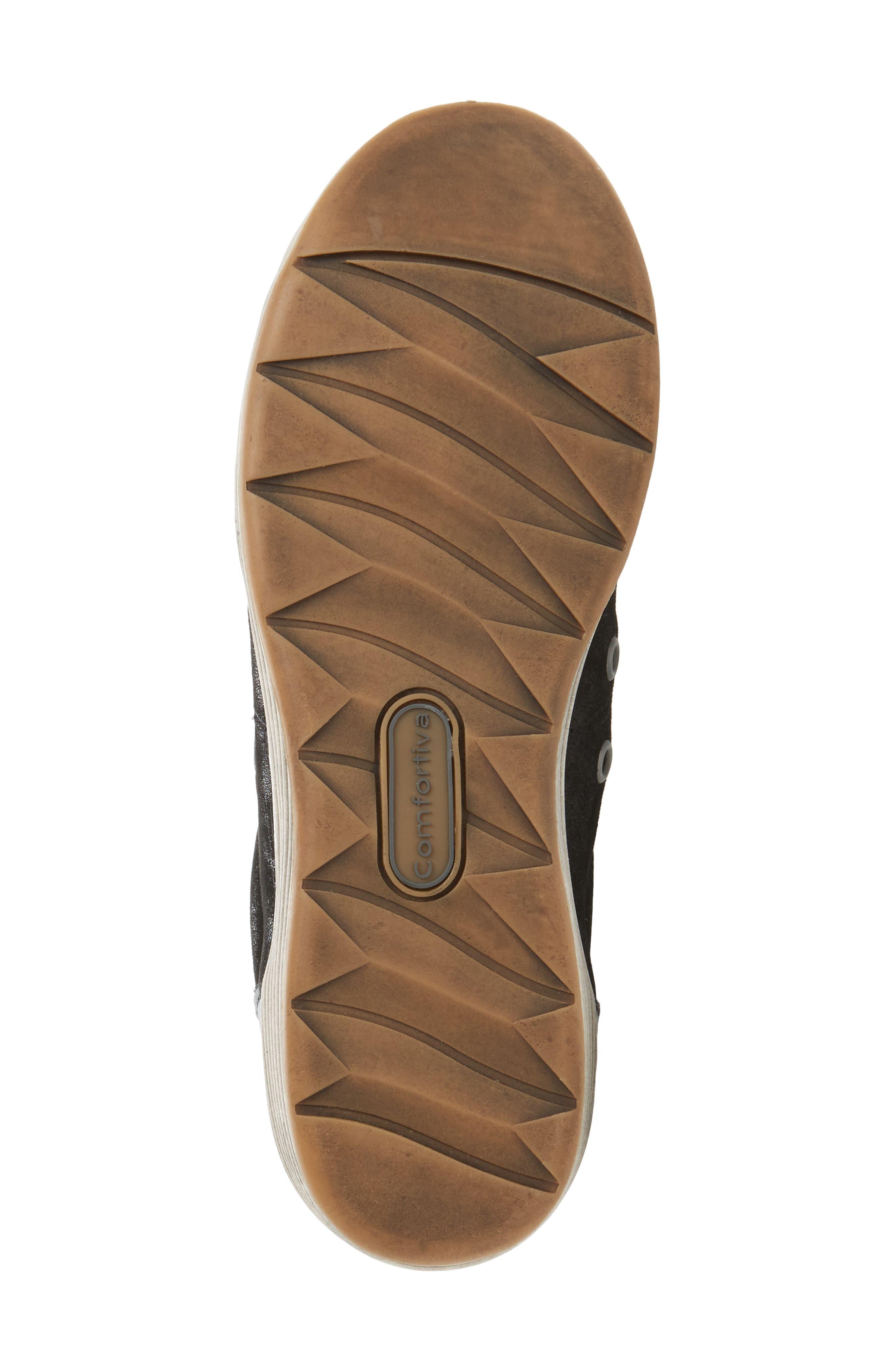 Lyons Low-Top Sneaker,                             Alternate thumbnail 6, color,                             BLACK SUEDE