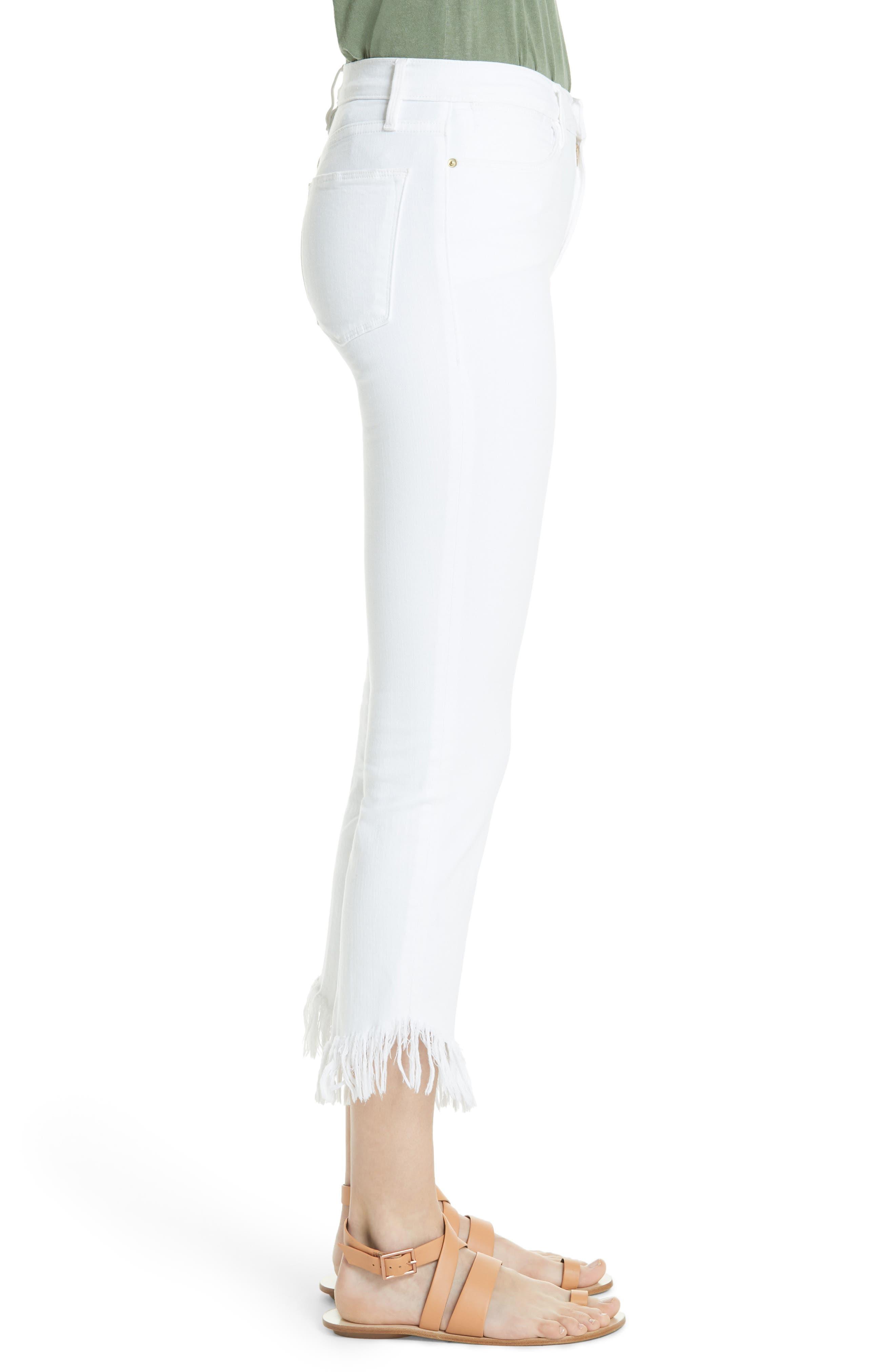 Le High Shredded Straight Leg Jeans,                             Alternate thumbnail 3, color,                             199