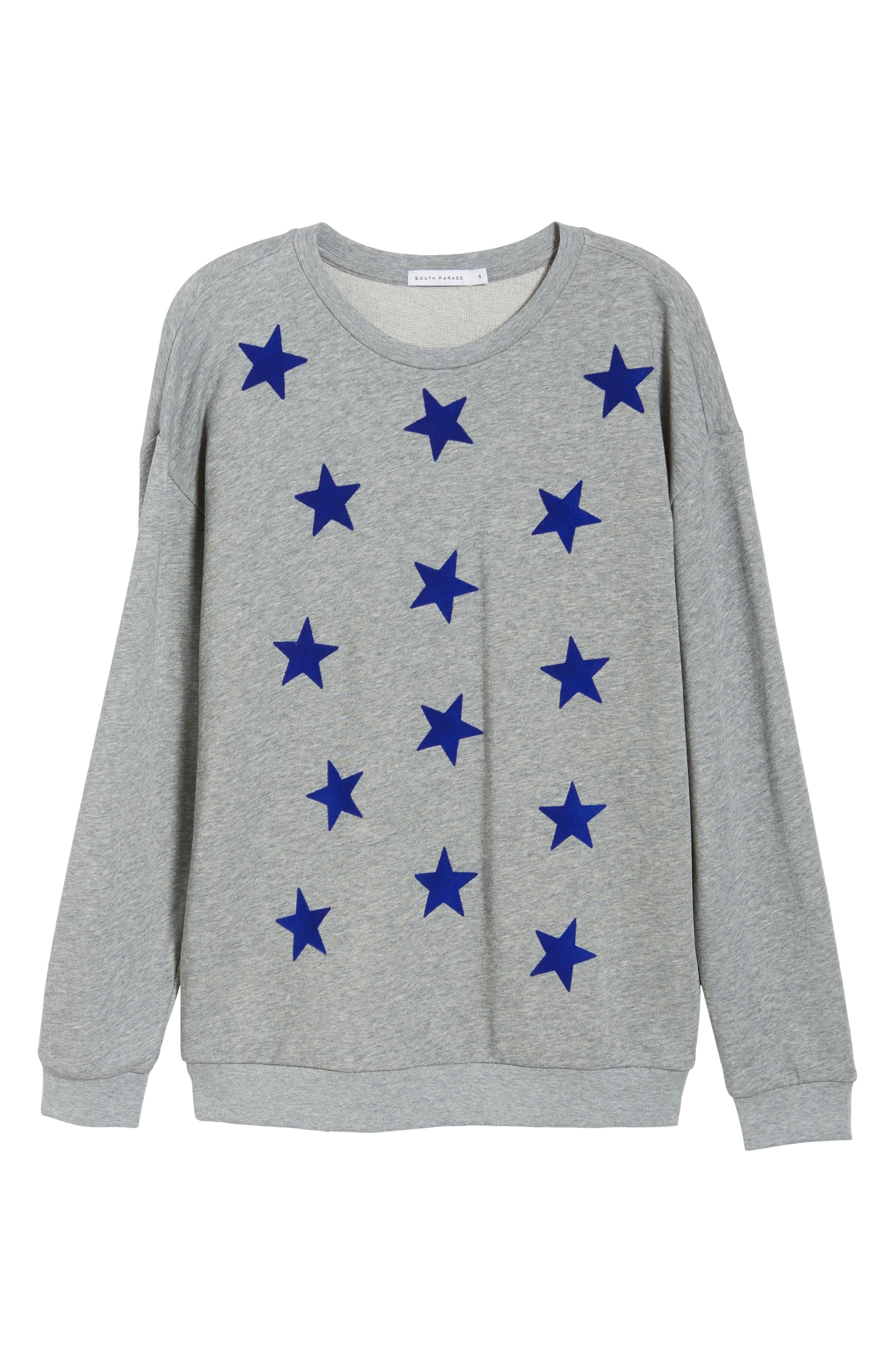 Alexa Stars Sweatshirt,                             Alternate thumbnail 6, color,                             GREY