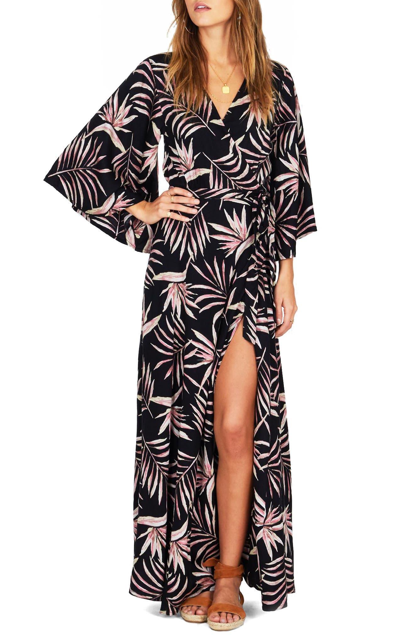 Isle of Love Wrap Dress,                         Main,                         color, 001