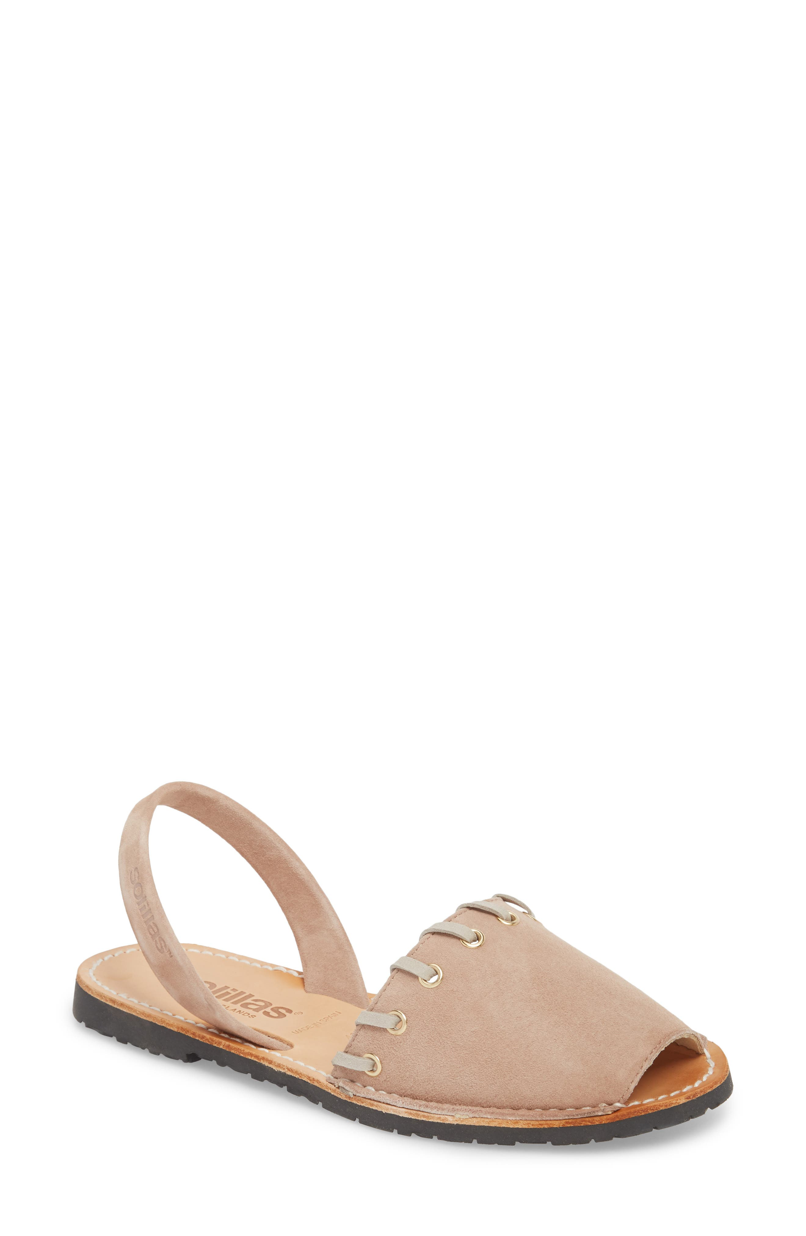 Whipstitched Flat Sandal,                             Main thumbnail 1, color,                             060