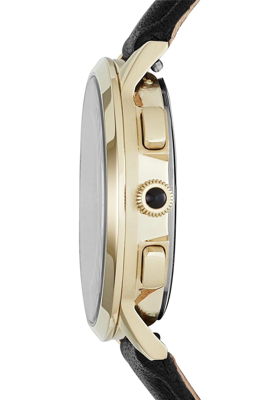 'Abilene' Chronograph Leather Strap Watch, 34mm,                             Alternate thumbnail 2, color,                             001
