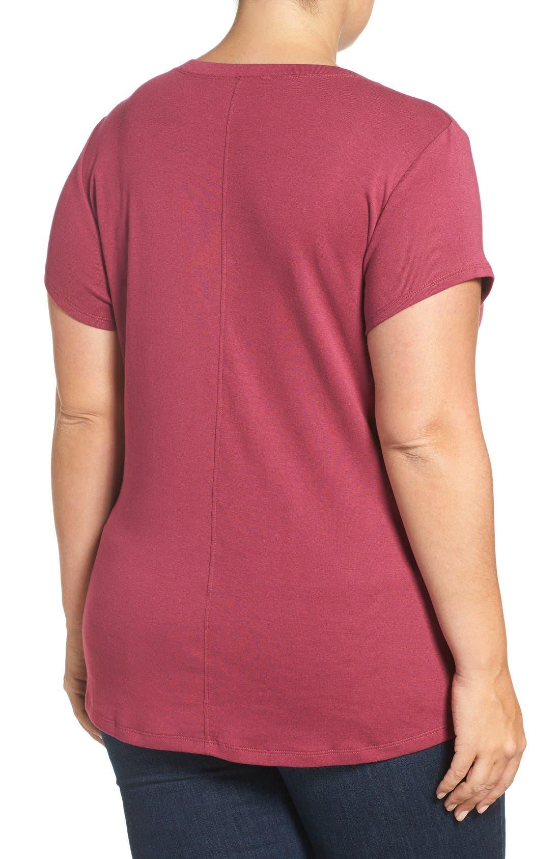 Short Sleeve V-Neck Tee,                             Alternate thumbnail 74, color,