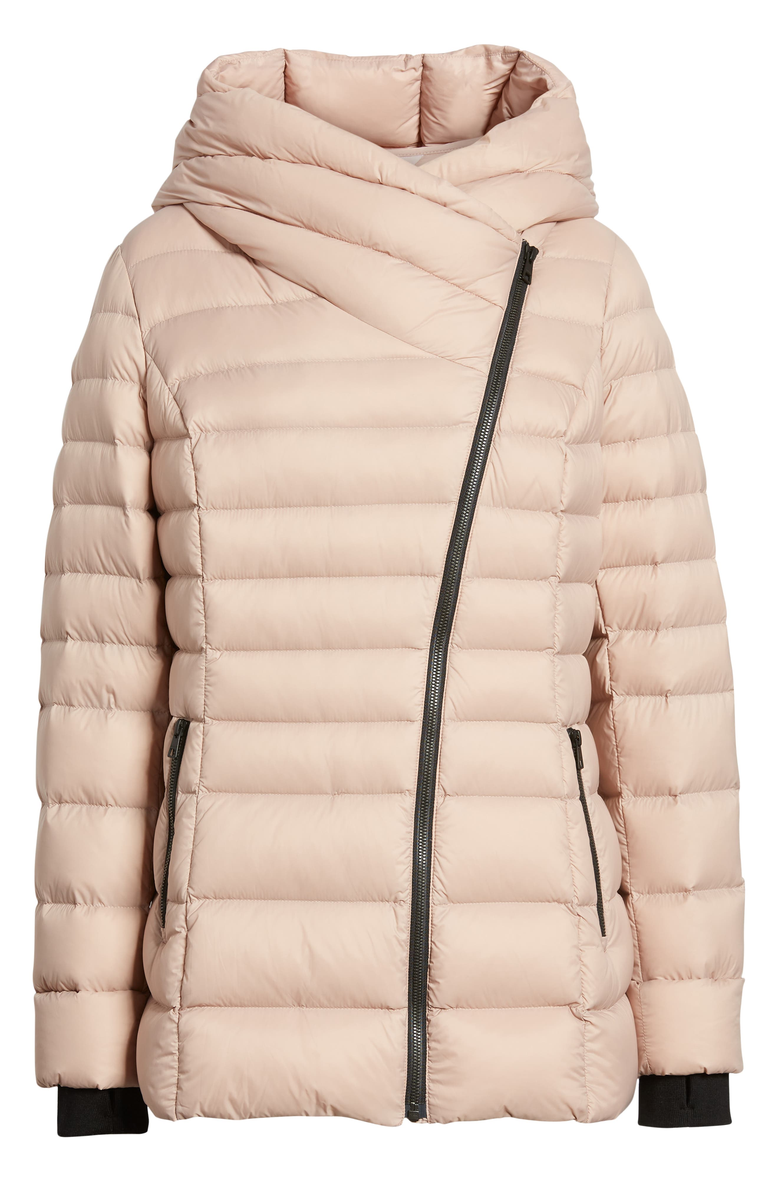 Hooded Down Puffer Jacket,                             Alternate thumbnail 6, color,                             QUARTZ