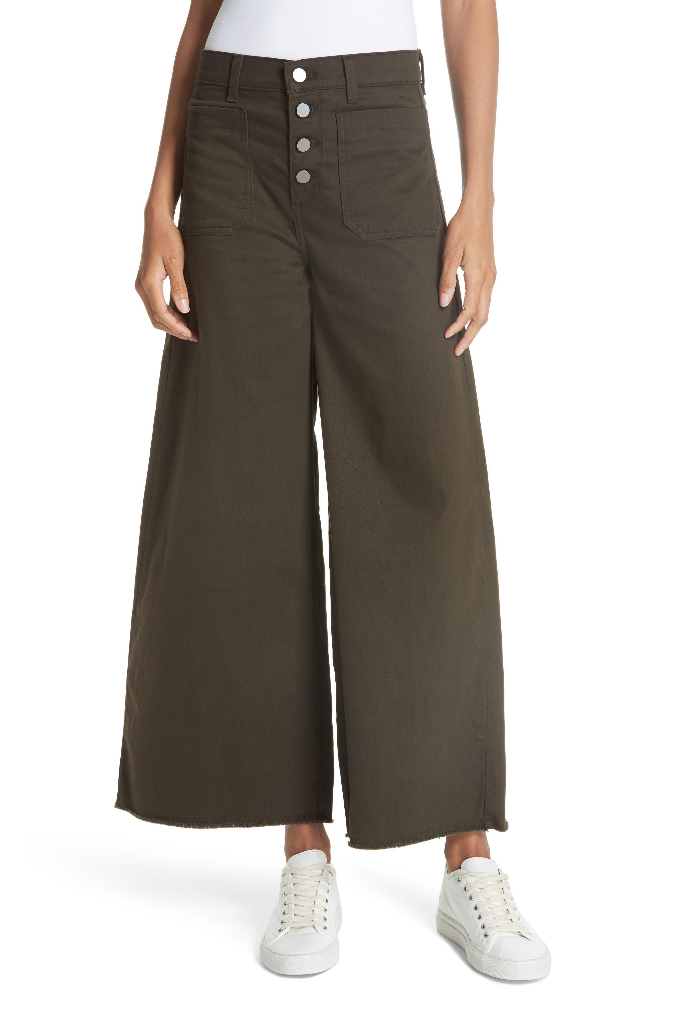 Carmine High Waist Wide Leg Crop Jeans,                             Main thumbnail 1, color,                             COMBAT