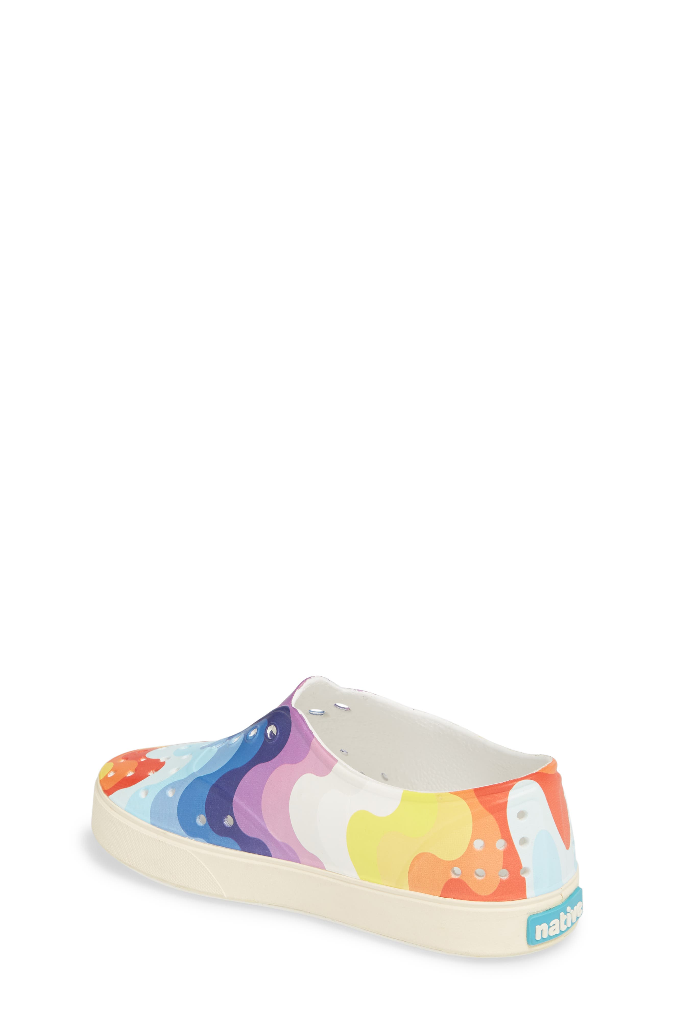 'Miller' Water Friendly Perforated Sneaker,                             Alternate thumbnail 2, color,                             SHELL WHITE/ RAINBOW WAVE