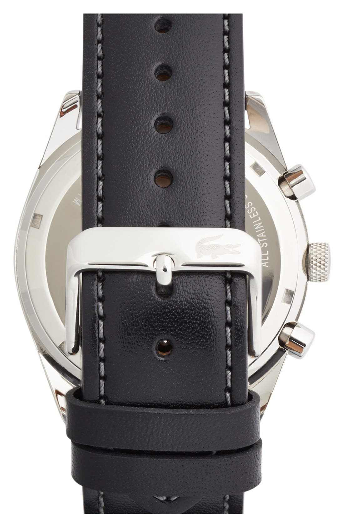 'Austin' Chronograph Leather Strap Watch, 44mm,                             Alternate thumbnail 3, color,