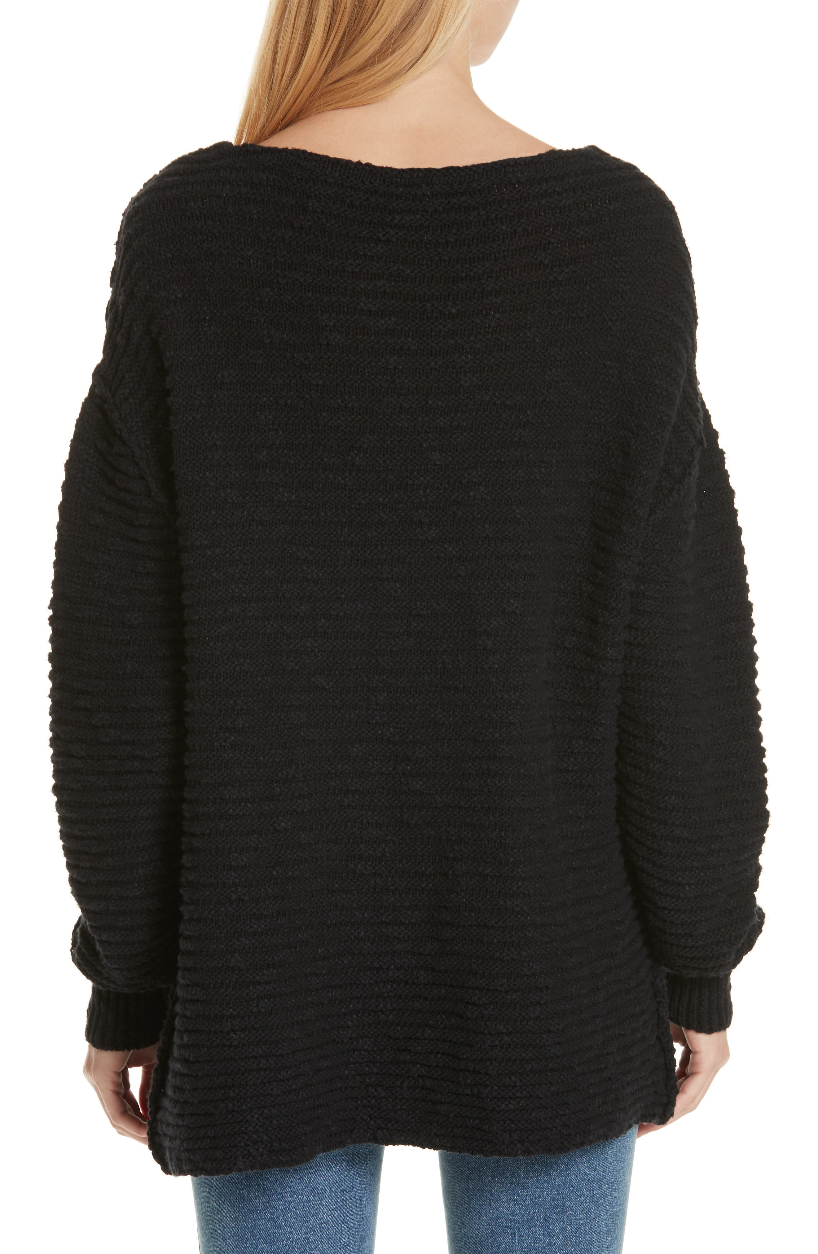 Menace Solid Tunic Sweater,                             Alternate thumbnail 2, color,                             001